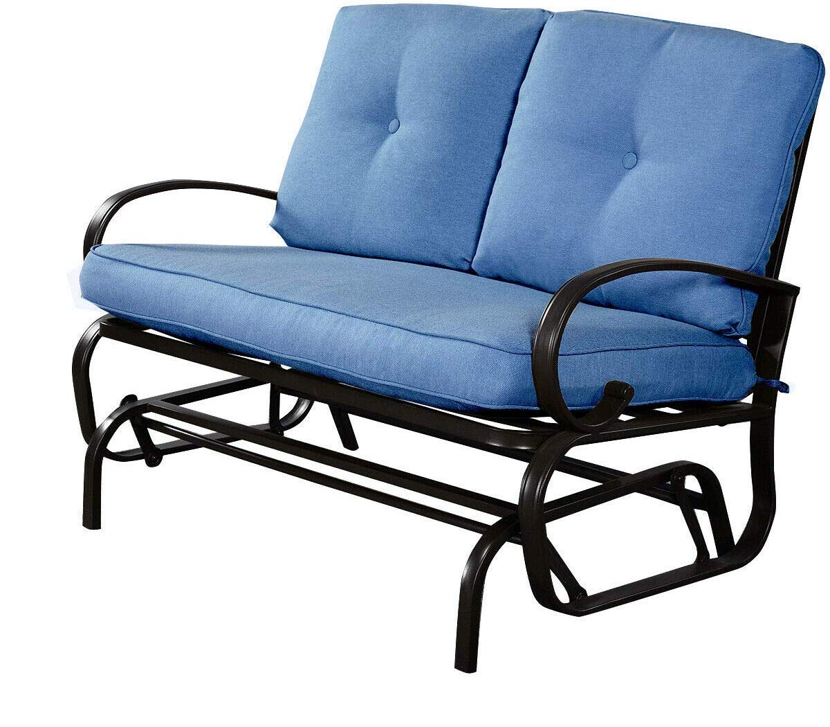 Famous Amazon: Outdoor Patio Glider Bench Loveseat For 2 Person For Loveseat Glider Benches With Cushions (View 15 of 30)