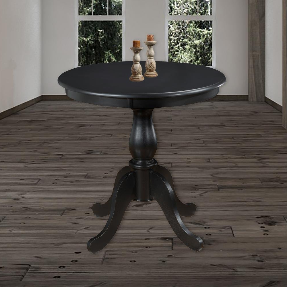 "Famous Antique Black Wood Kitchen Dining Tables Pertaining To Amazon – Carolina Classic Portland 30"" Round Pedestal (Gallery 4 of 30)"
