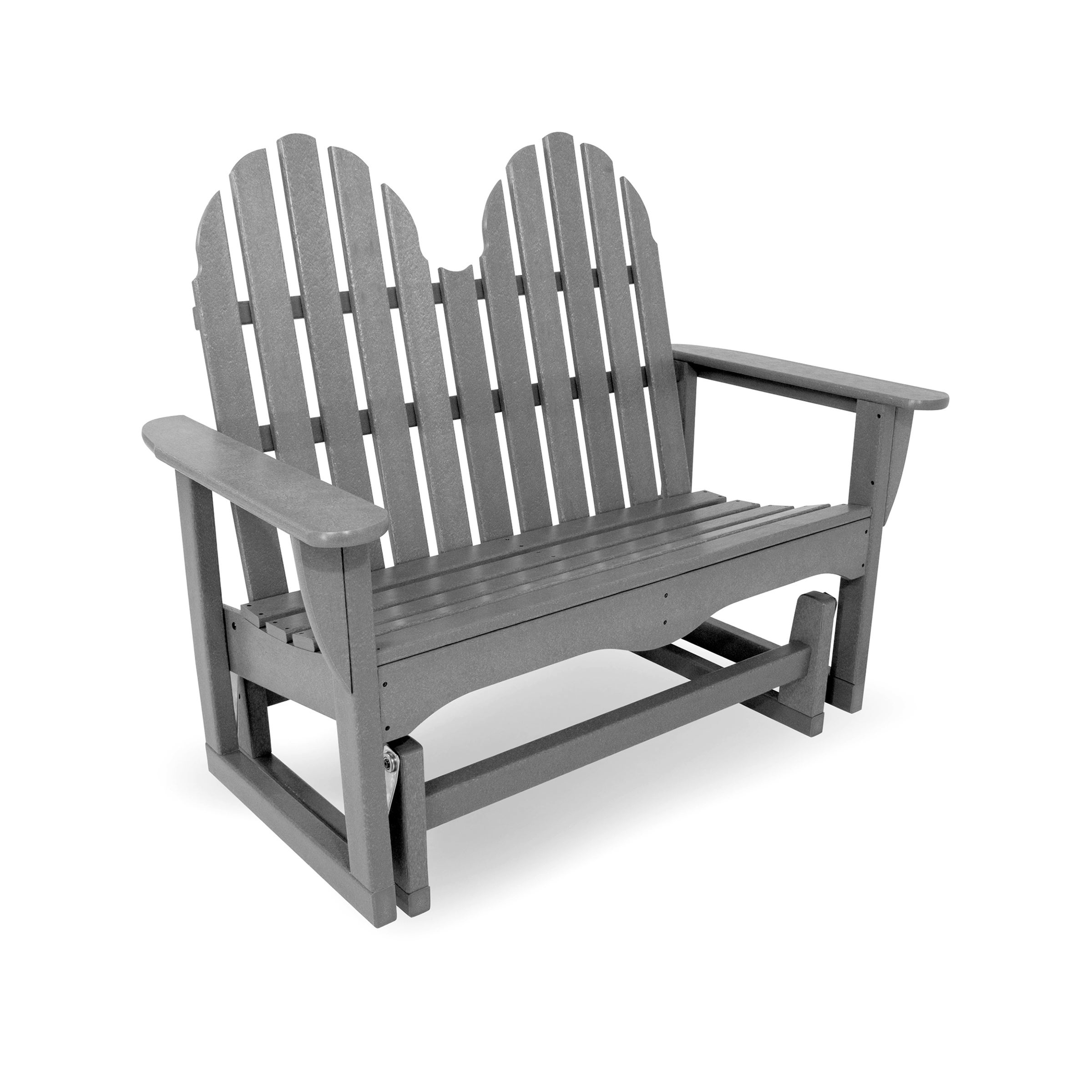 """Famous Classic Glider Benches In Polywood® Classic Adirondack 48"""" Outdoor Glider Bench (View 26 of 30)"""