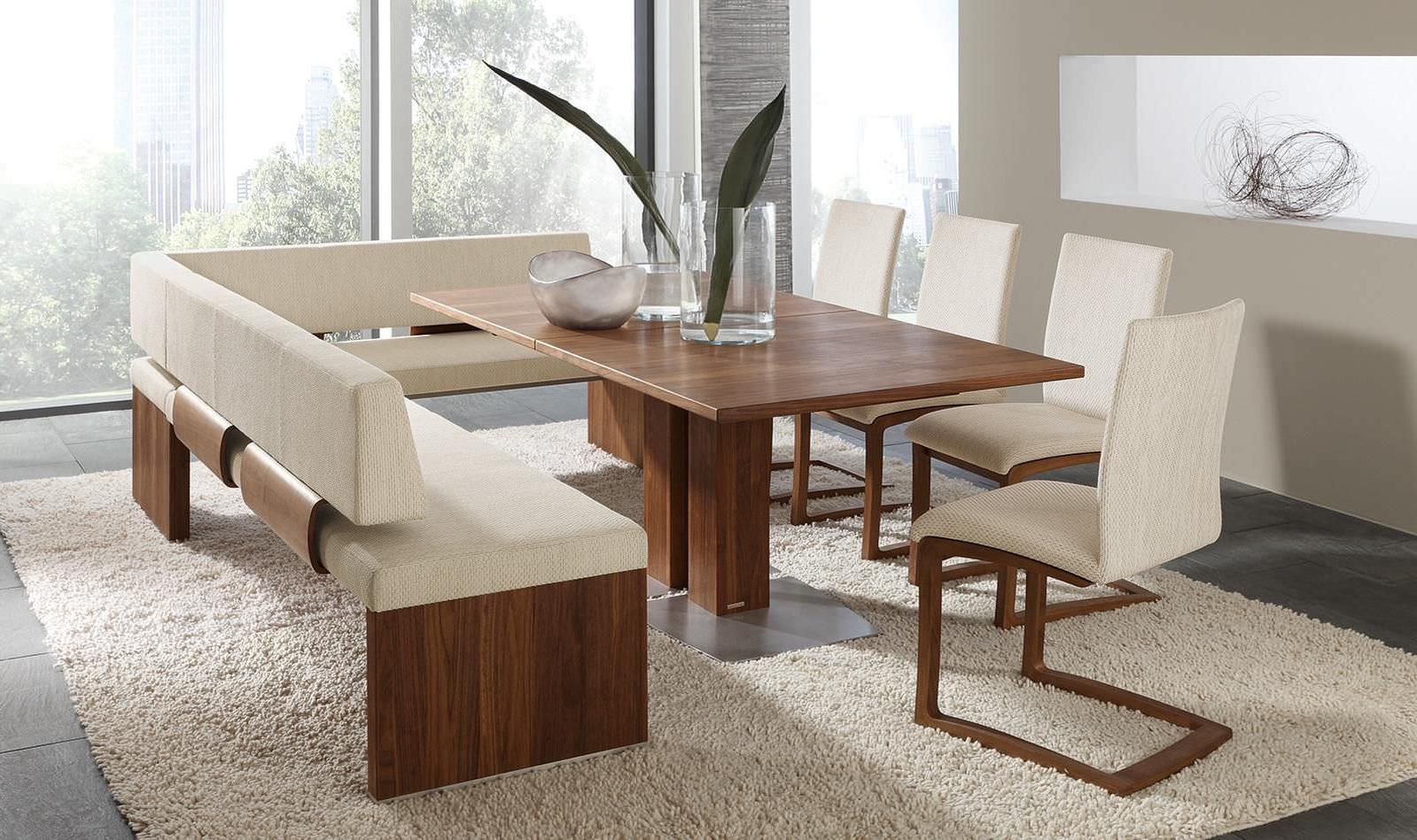 Famous Contemporary 4 Seating Oblong Dining Tables With Contemporary Dining Table / Wooden / Rectangular – Et364 (Gallery 3 of 30)