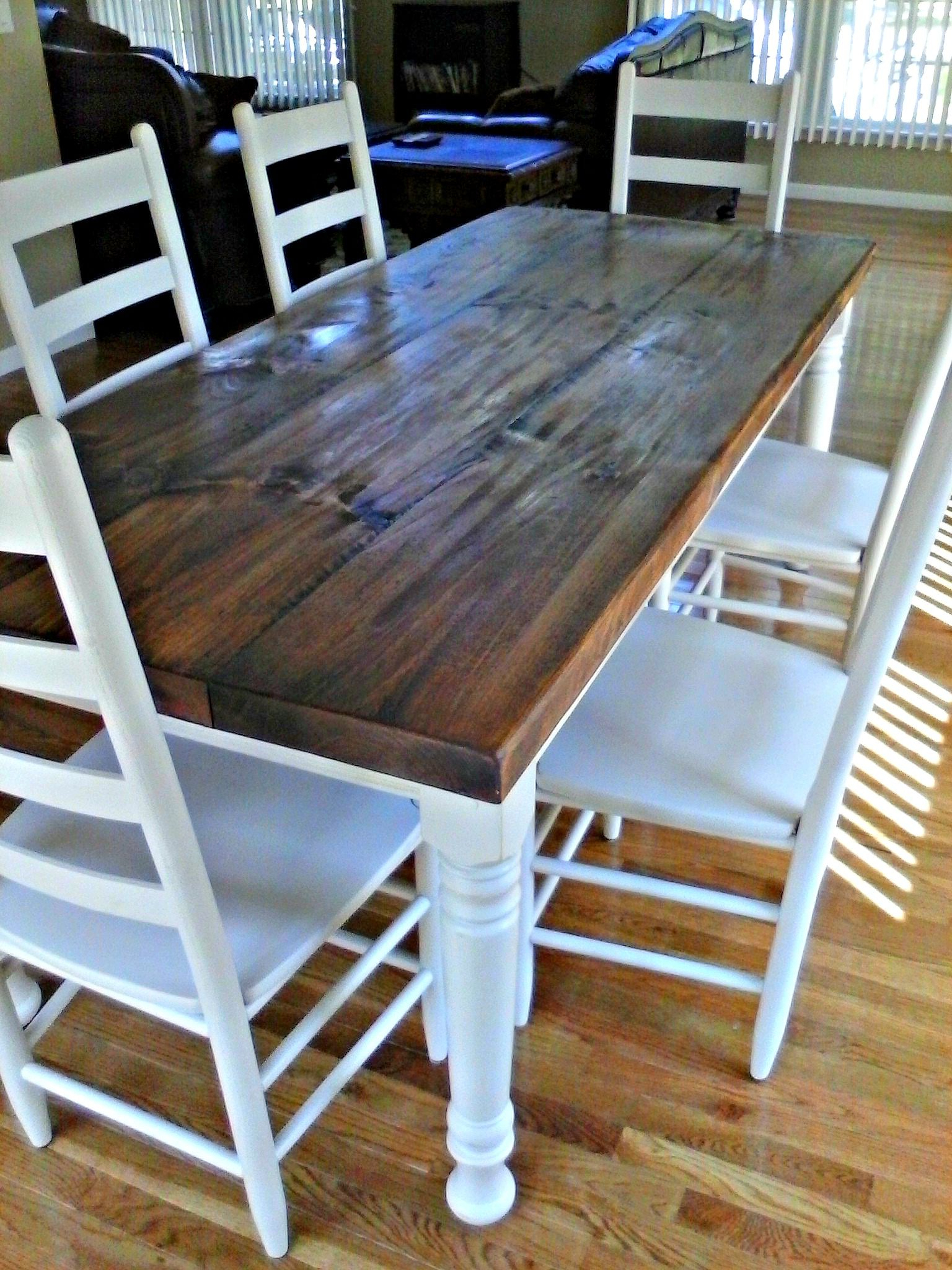 Famous Country Dining Tables With Weathered Pine Finish In 36 X 84 Rustic Pine Farm Table With Hand Scraping, Wormholes (View 4 of 30)