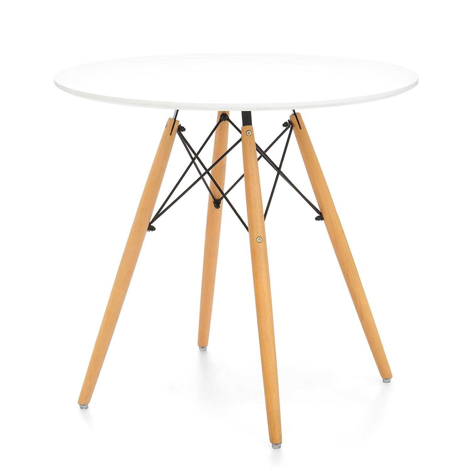 Famous Finch Fox Mid Century Modern Eames Style Round Dining Table Throughout Eames Style Dining Tables With Wooden Legs (Gallery 9 of 30)