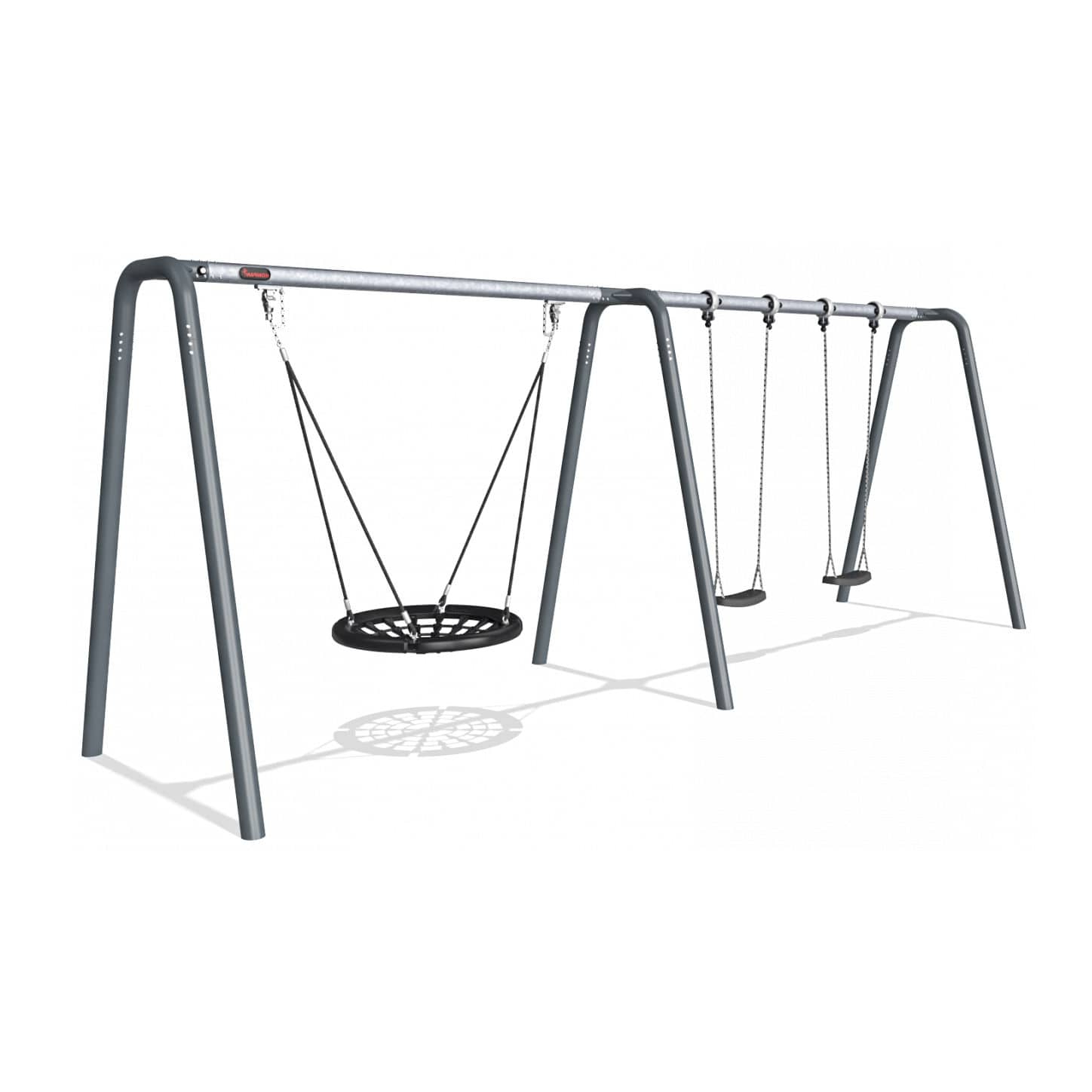 Famous Galvanized Steel Swing / Playground / Multi Person With Regard To 2 Person Black Steel Outdoor Swings (Gallery 17 of 30)