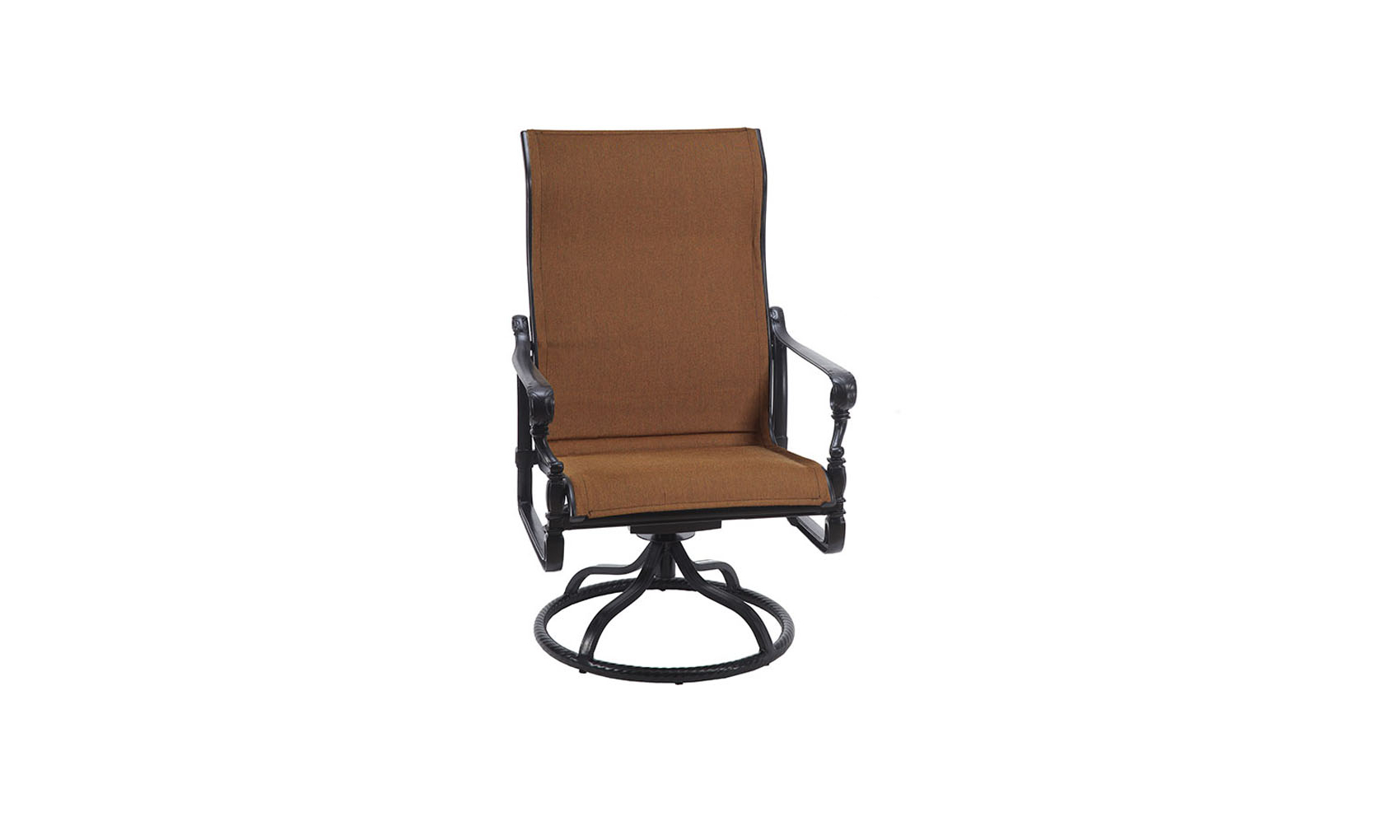 Famous Grand Terrace Padded Sling High Back Swivel Rocking Lounge Within Padded Sling High Back Swivel Chairs (Gallery 28 of 30)