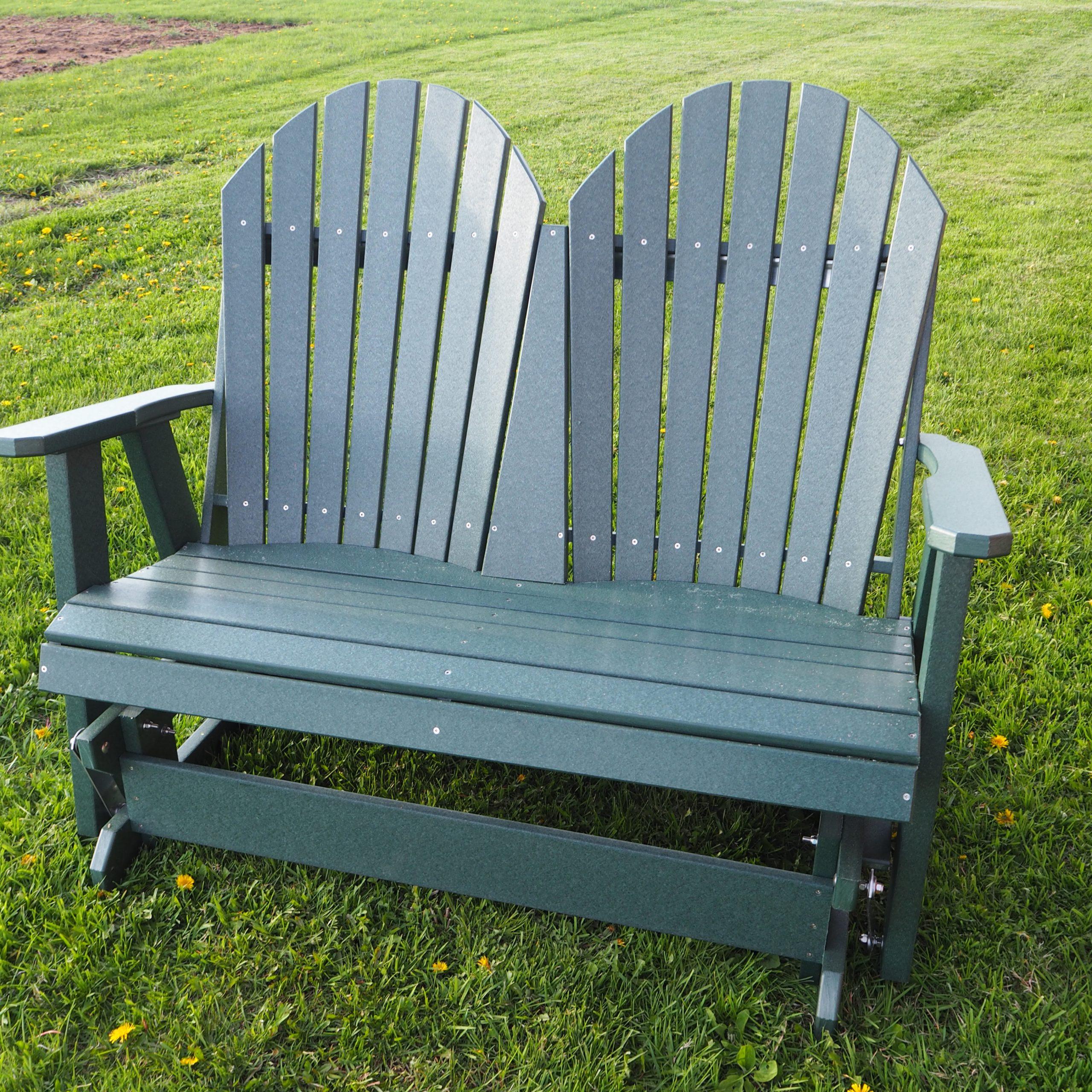 Famous Green Leaf's 4′ Fan Back Glider – Green Leaf Furniture Regarding Fanback Glider Benches (Gallery 28 of 30)