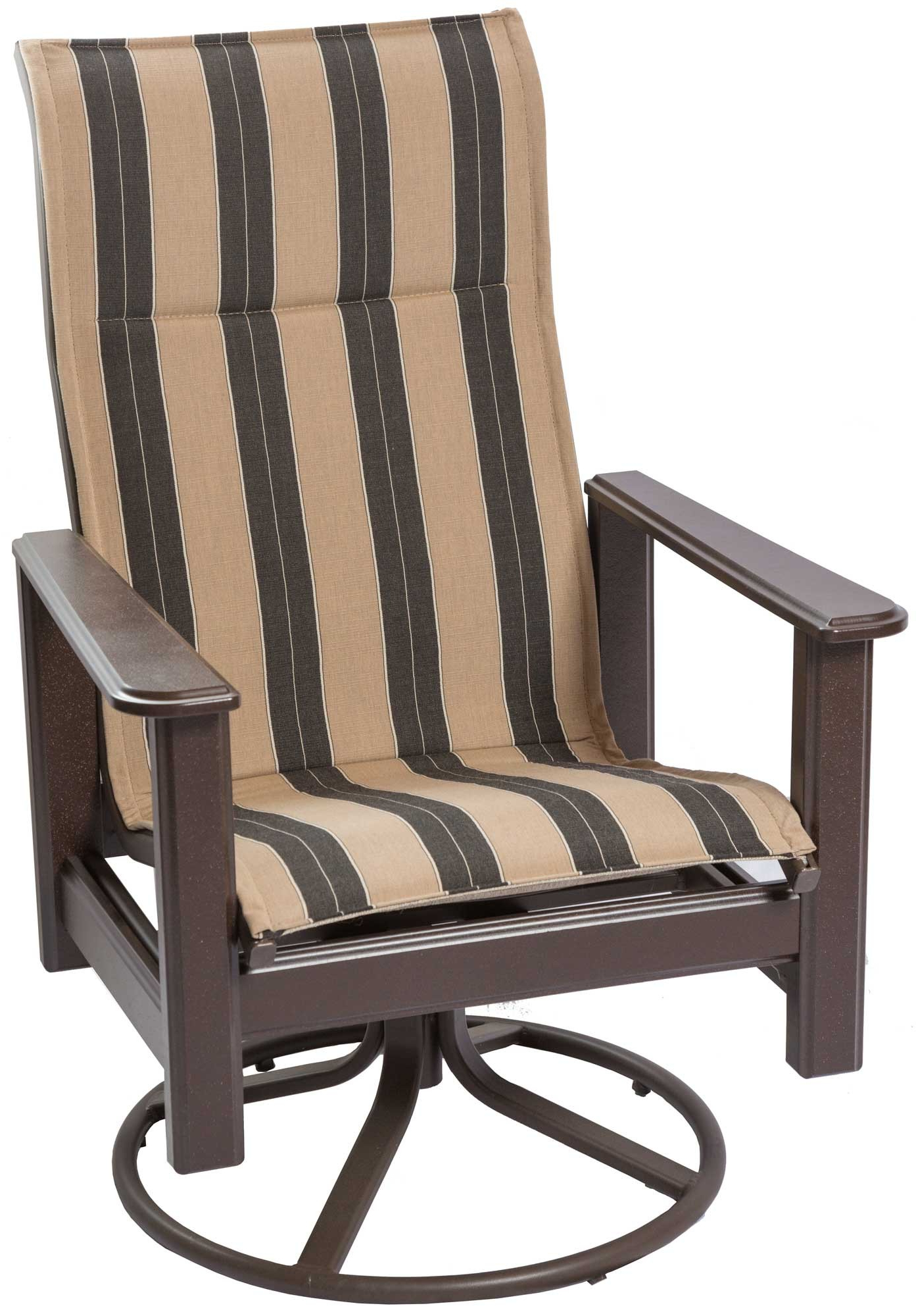 Famous Hampton High Back Swivel Rockerwindward Design Group Intended For Sling High Back Swivel Chairs (View 22 of 30)