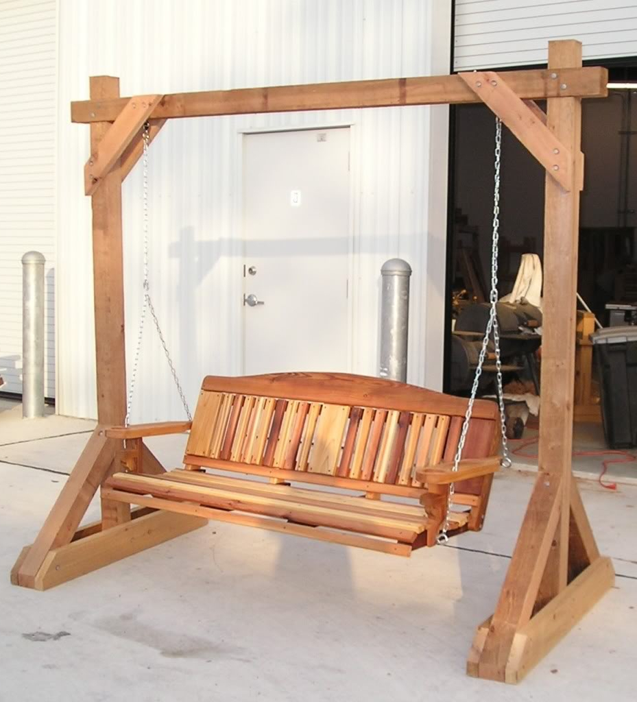 Famous Hardwood Hanging Porch Swings With Stand With Best Type Of Wood For Outdoor Swing?  Learningasigo (View 6 of 30)