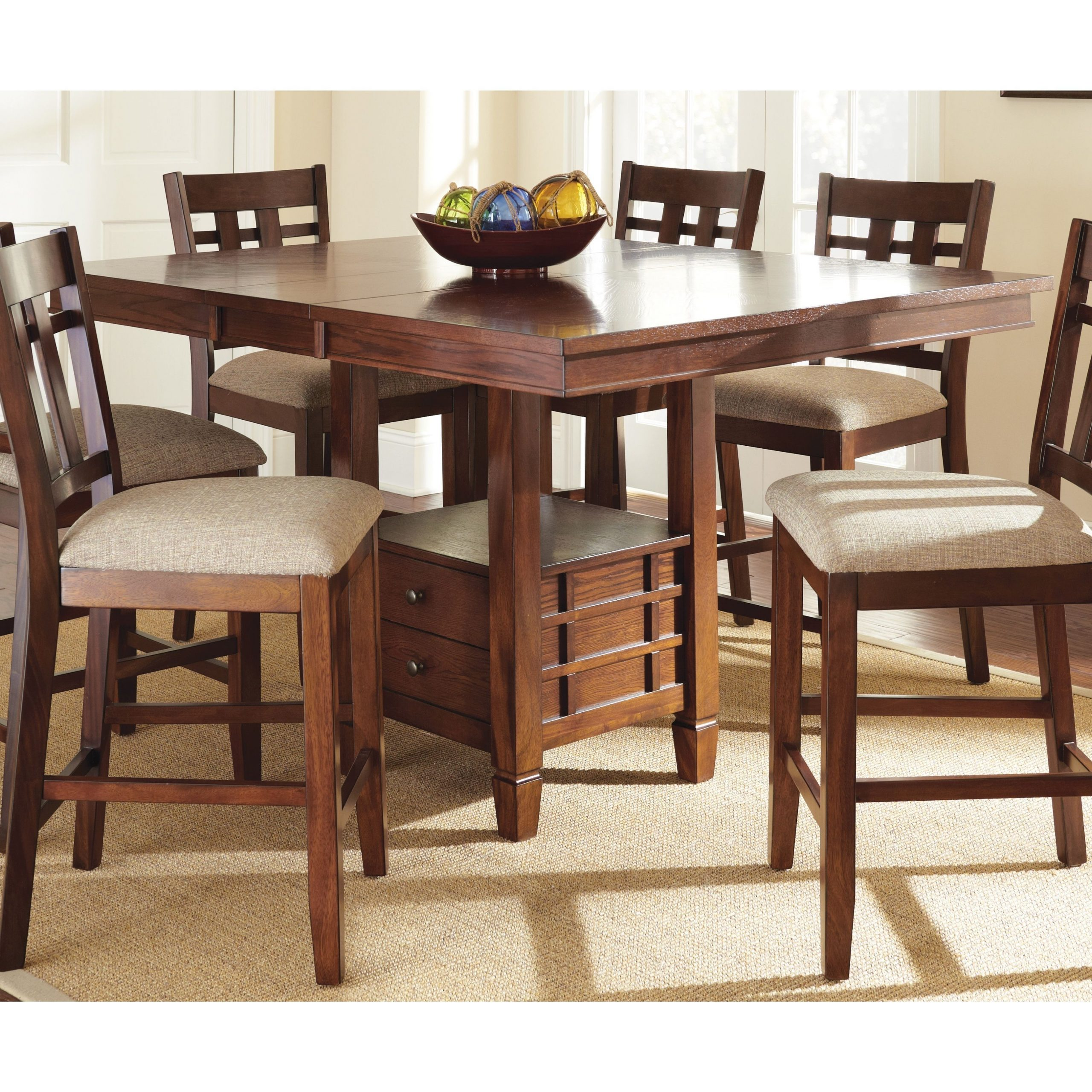 Famous Medium Elegant Dining Tables Throughout Greyson Living Blake Medium Oak (brown) Counter Height (View 3 of 30)
