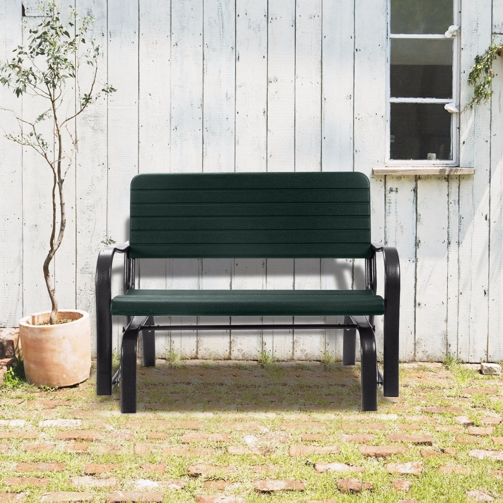 Famous Outdoor Patio Swing Porch Rocker Glider Benches Loveseat Garden Seat Steel Pertaining To Us $ (View 8 of 30)