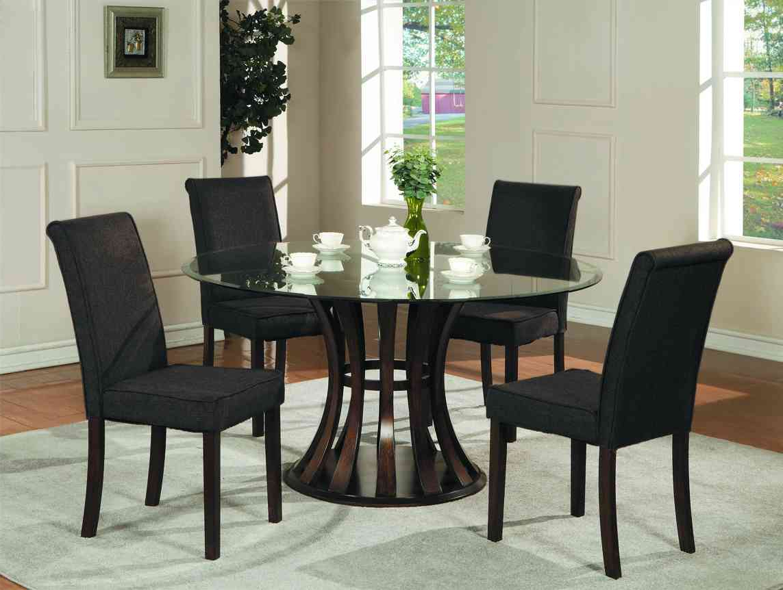Famous Retro Round Glasstop Dining Tables For Retro Dining Table Chair : Top Bathroom – Going For Black (View 14 of 30)