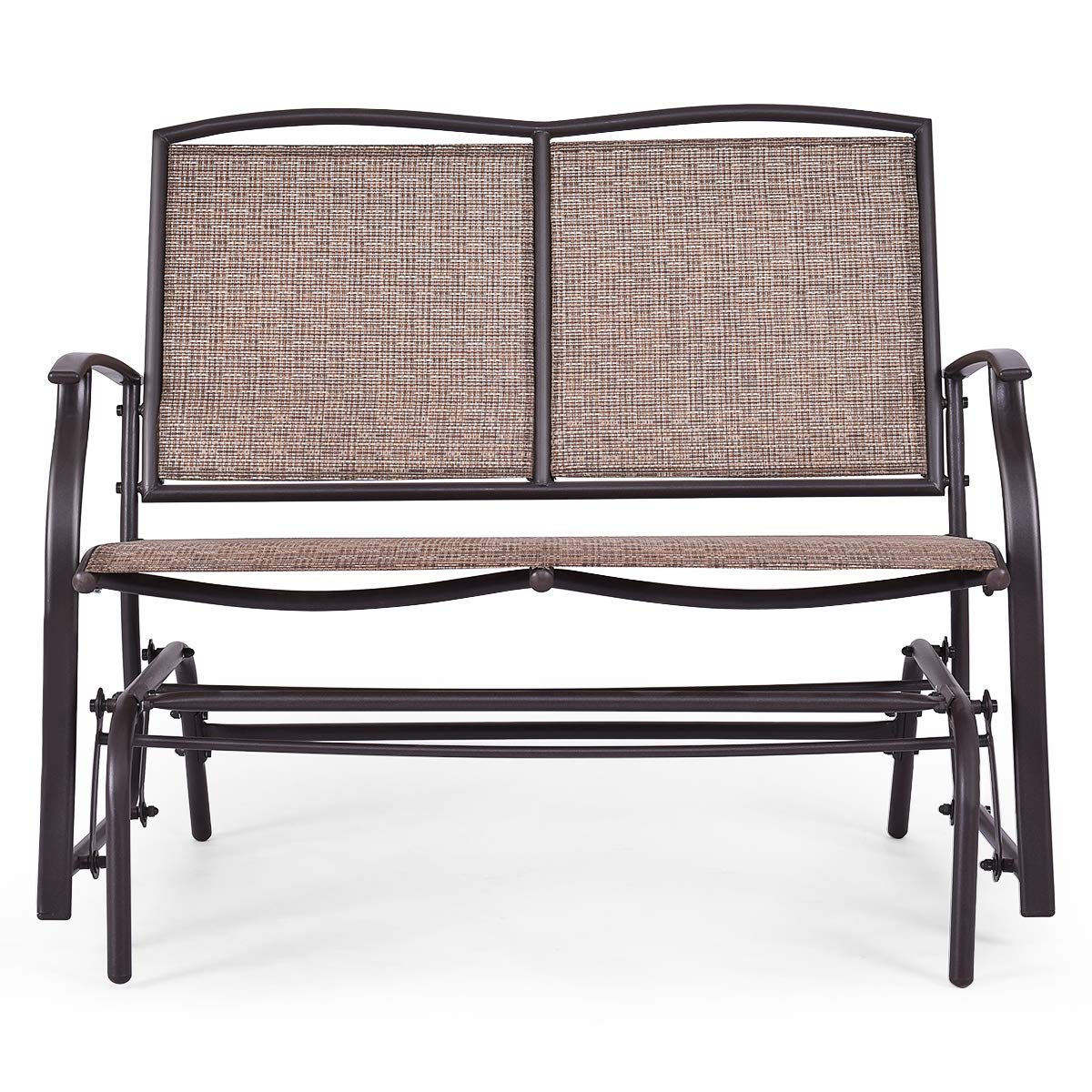 Famous Steel Patio Swing Glider Benches With Amazon : Wenst'skufan Patio Glider Chair, Outdoor (Gallery 20 of 30)