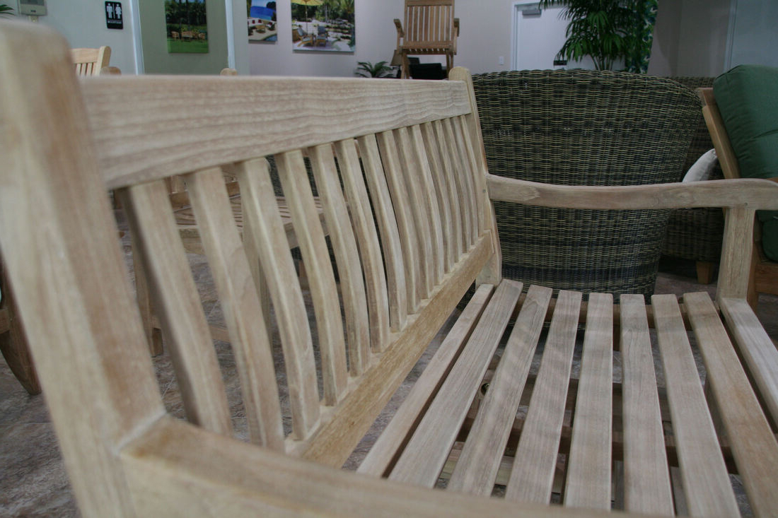 Famous Teak Outdoor Glider Benches For Classic 4' Glider Bench – Douglas Nance Teak Wholesale (View 29 of 30)
