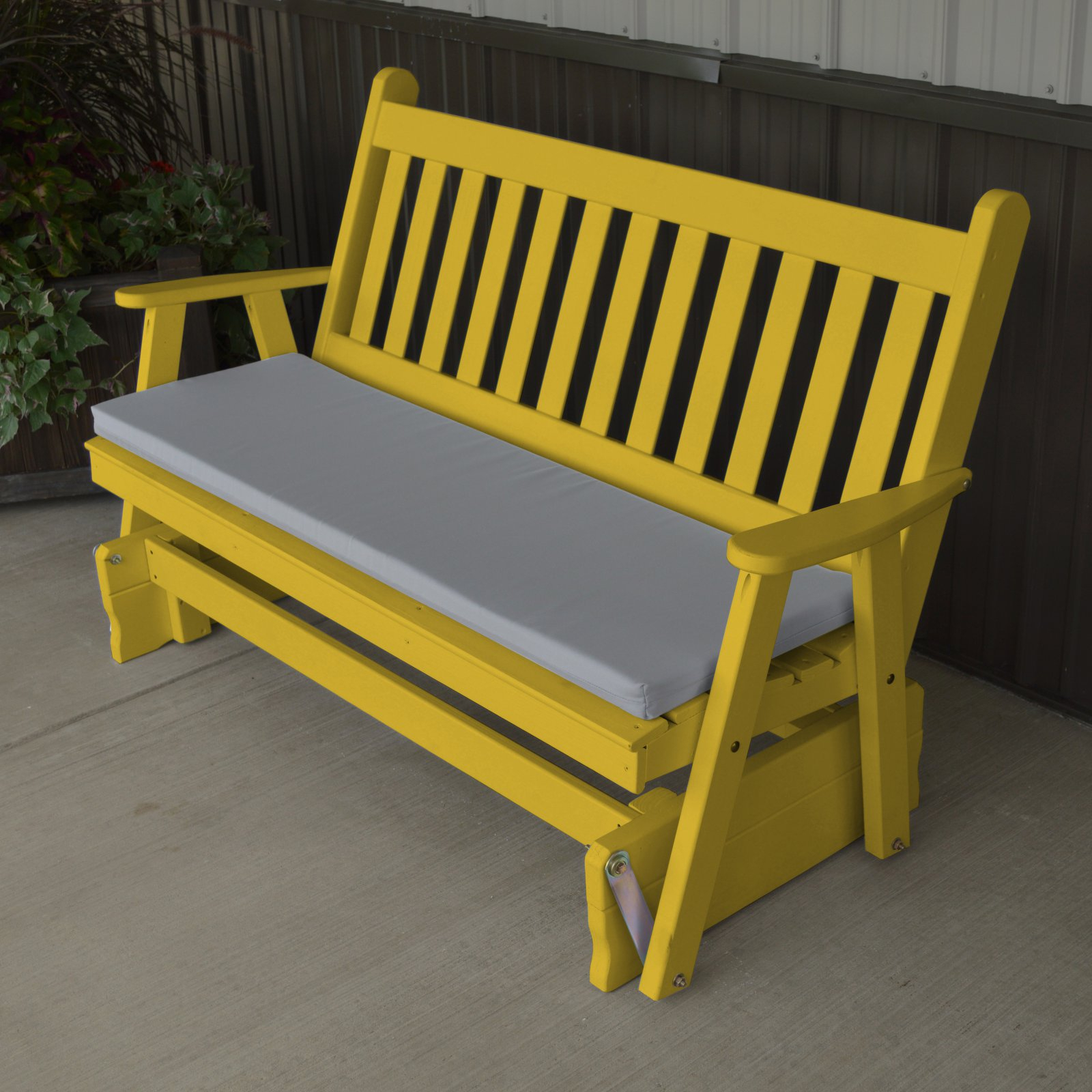 Famous Traditional English Glider Benches In A & L Furniture Yellow Pine Traditional English Outdoor Bench Glider (View 12 of 34)
