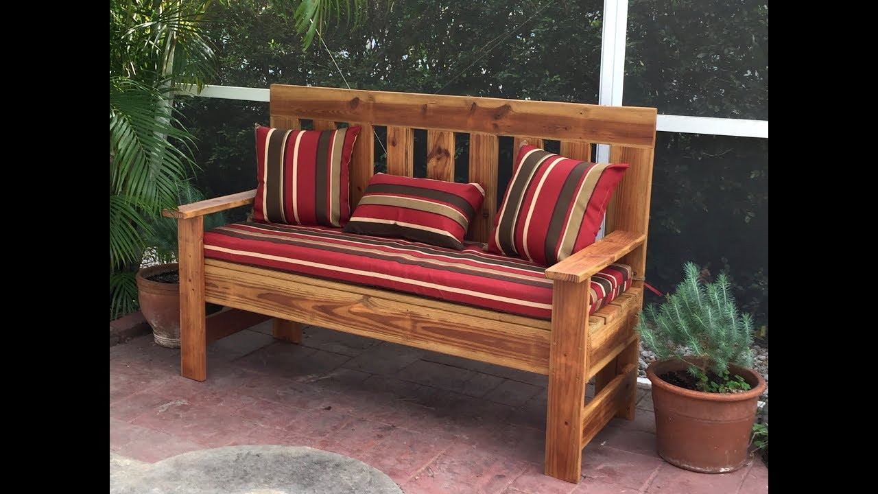 Famous Wood Garden Benches Inside Upcycled Wood Outdoor Bench Garden Bench Diy 60 Inch (Gallery 5 of 30)