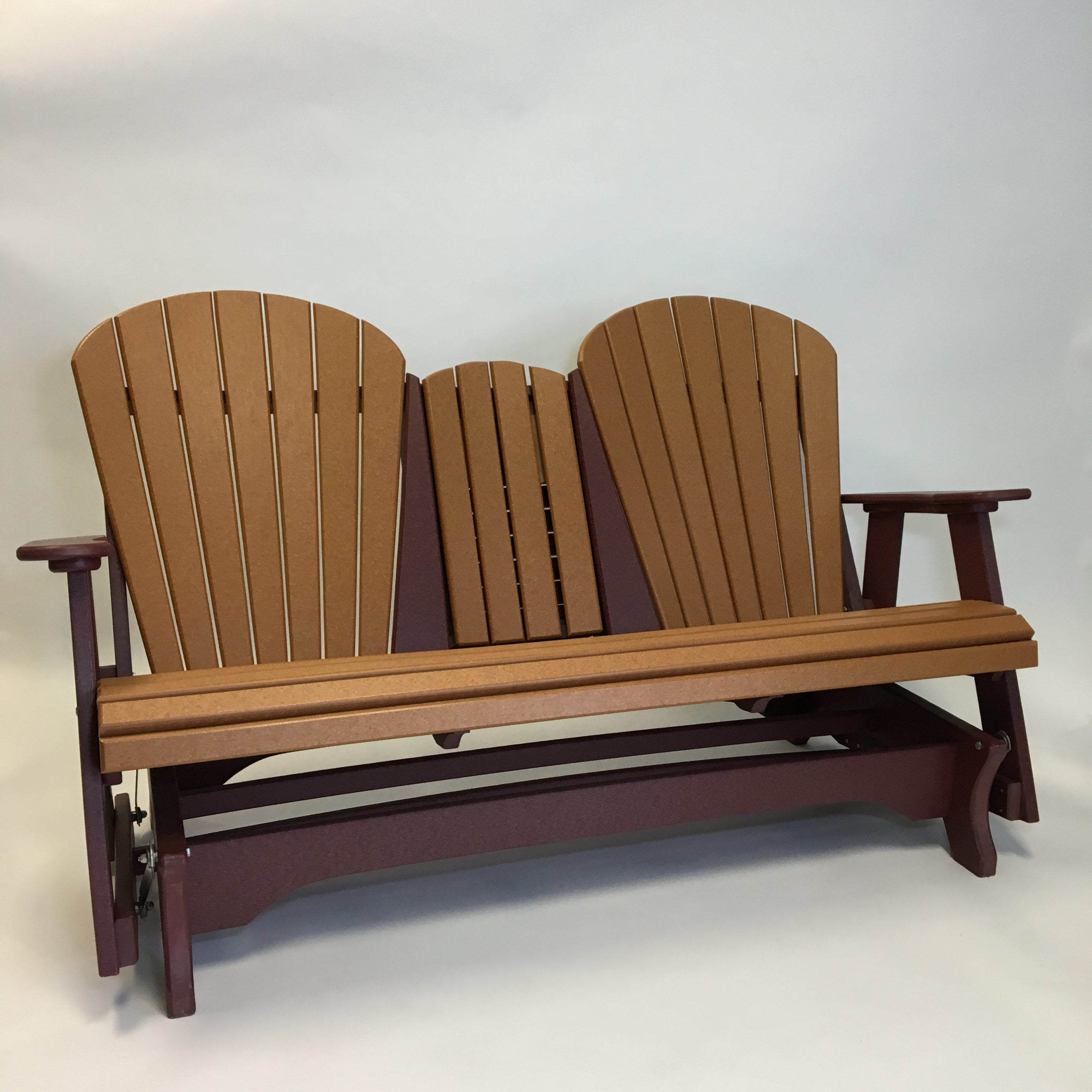 Fanback Glider Benches Pertaining To Trendy Triple Fanback Glider – The Amish Craftsmen Guild Ii (Gallery 10 of 30)