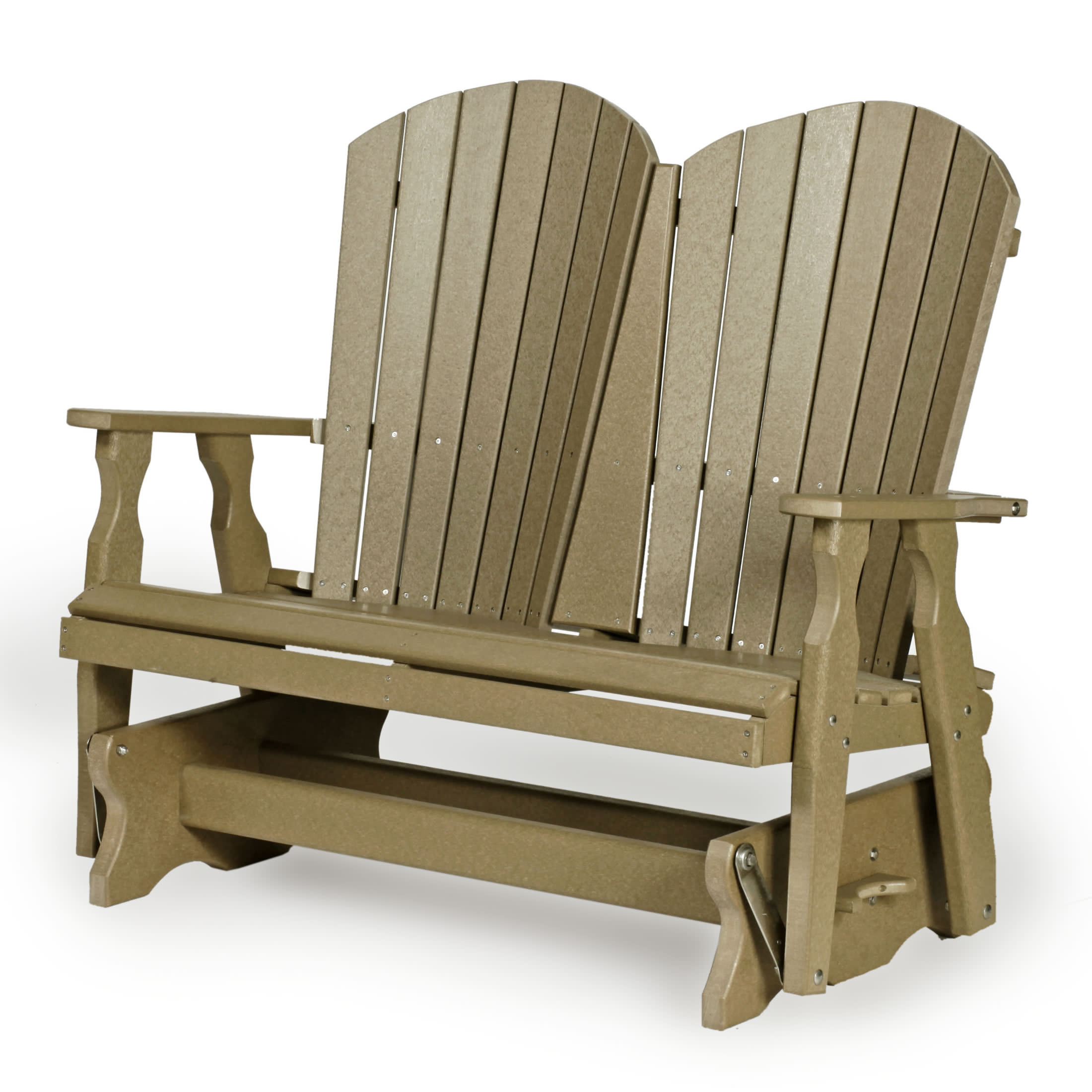 Fanback Glider Benches With Regard To Most Recently Released Amish 4' Poly Fan Back Glider – Leisure Lawns Collection (Gallery 13 of 30)