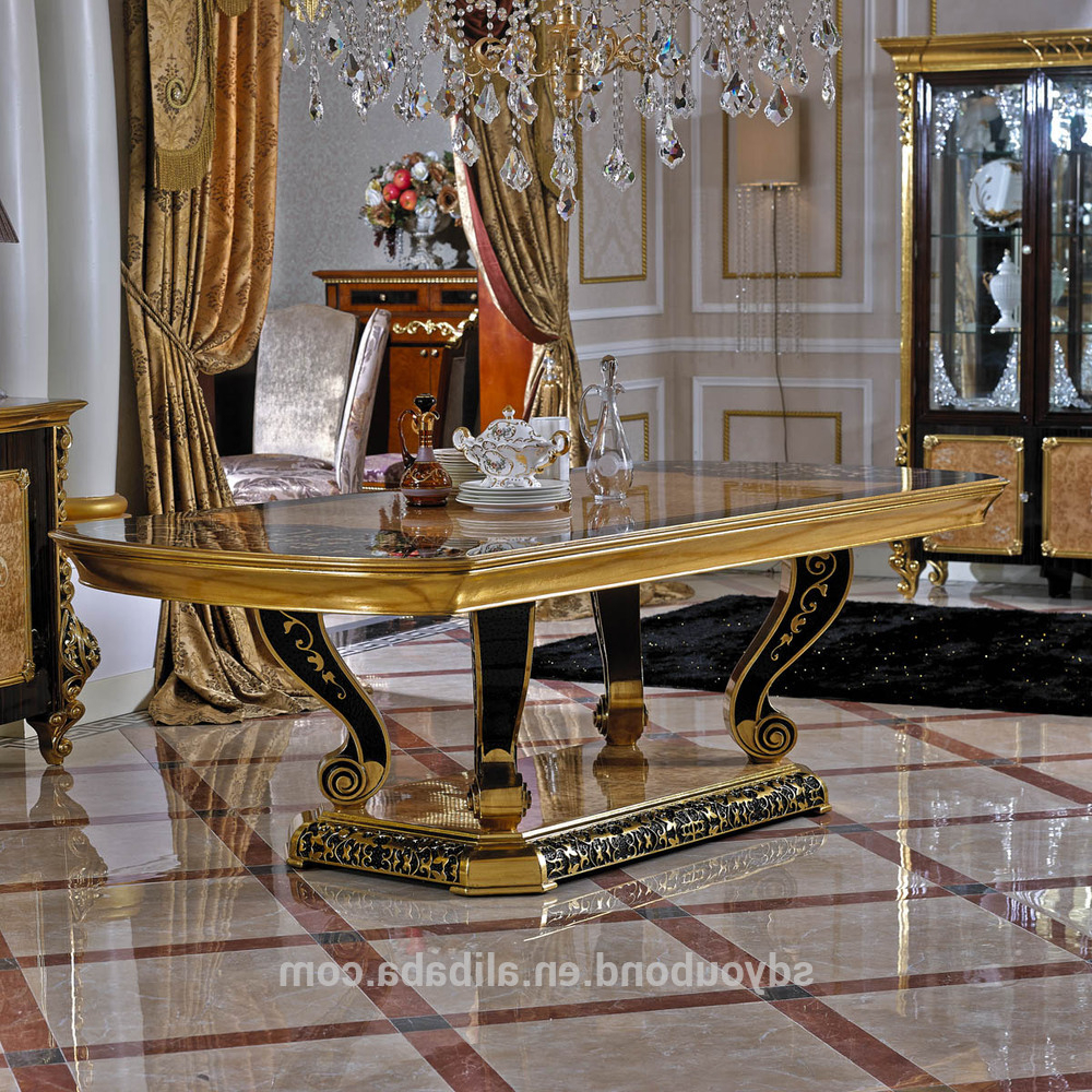 Fashionable 0061 Arabic Restaurant Gold Leaf Round Dining Table And Chair Furniture Set – Buy Restaurant Round Tables And Chairs,round Dining Table Set,arabic With Regard To Neo Round Dining Tables (View 20 of 30)