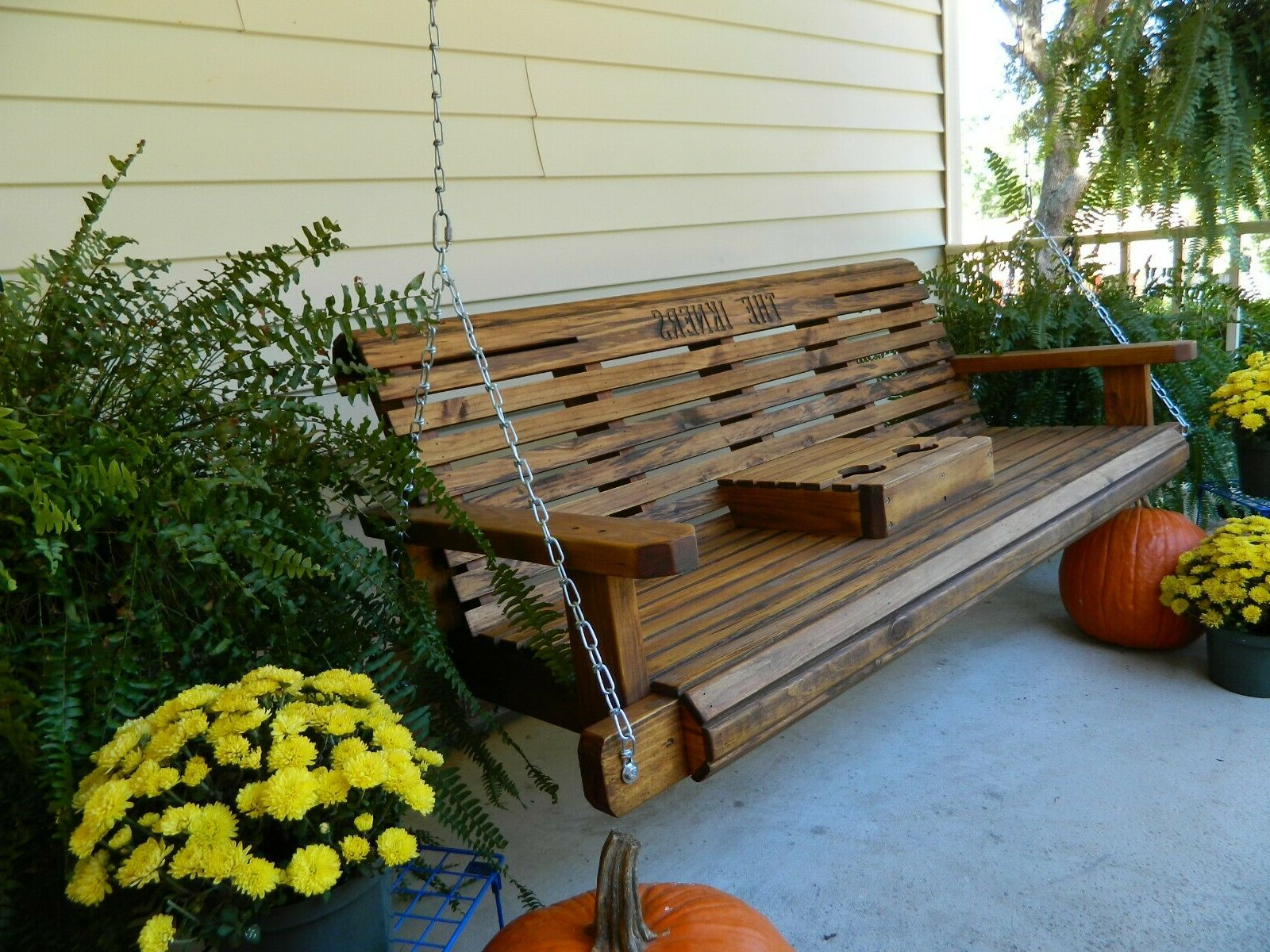 Fashionable 5 Ft Cedar Swings With Springs Regarding Southern Swings Handmade 5Ft Heavy Duty Porch Or Patio Swing (View 20 of 30)