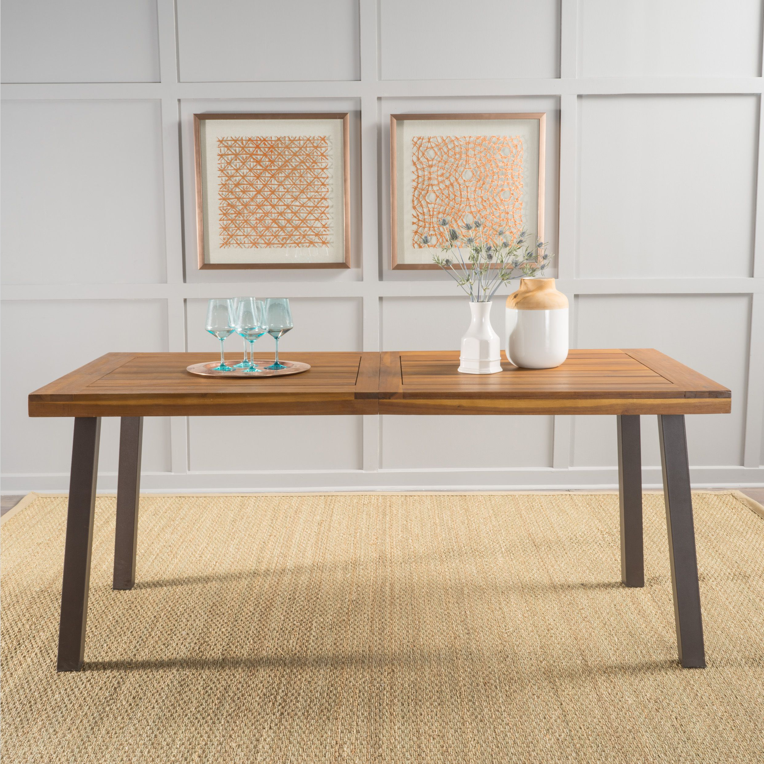 Fashionable 8 Seater Wood Contemporary Dining Tables With Extension Leaf With The 8 Best Dining Room Tables At Walmart In (View 30 of 30)