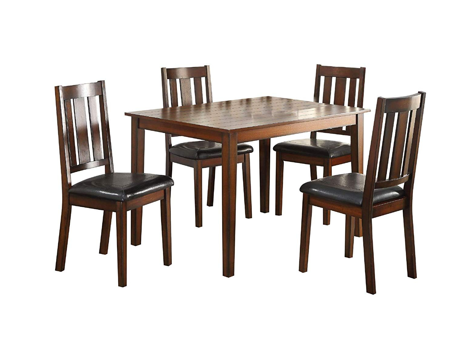 Fashionable Amazon – Major Q 5Pc Pack Transitional Style Casual For Transitional 6 Seating Casual Dining Tables (View 9 of 30)