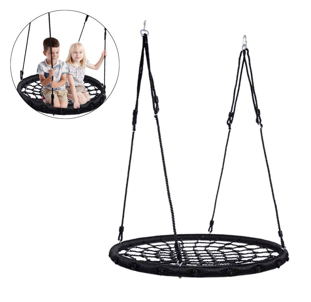 Fashionable Amazon: Qhyxt Spider Web Swing Seat,heavy Duty Nest Intended For Nest Swings With Adjustable Ropes (Gallery 4 of 30)