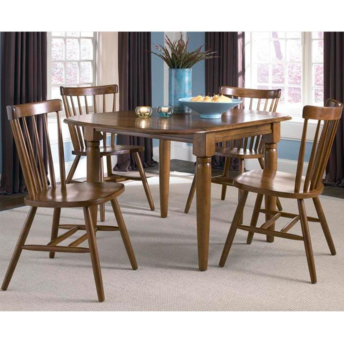 Fashionable Creations Ii Drop Leaf Table In Tobacco – Table Only With Transitional 4 Seating Double Drop Leaf Casual Dining Tables (View 5 of 30)