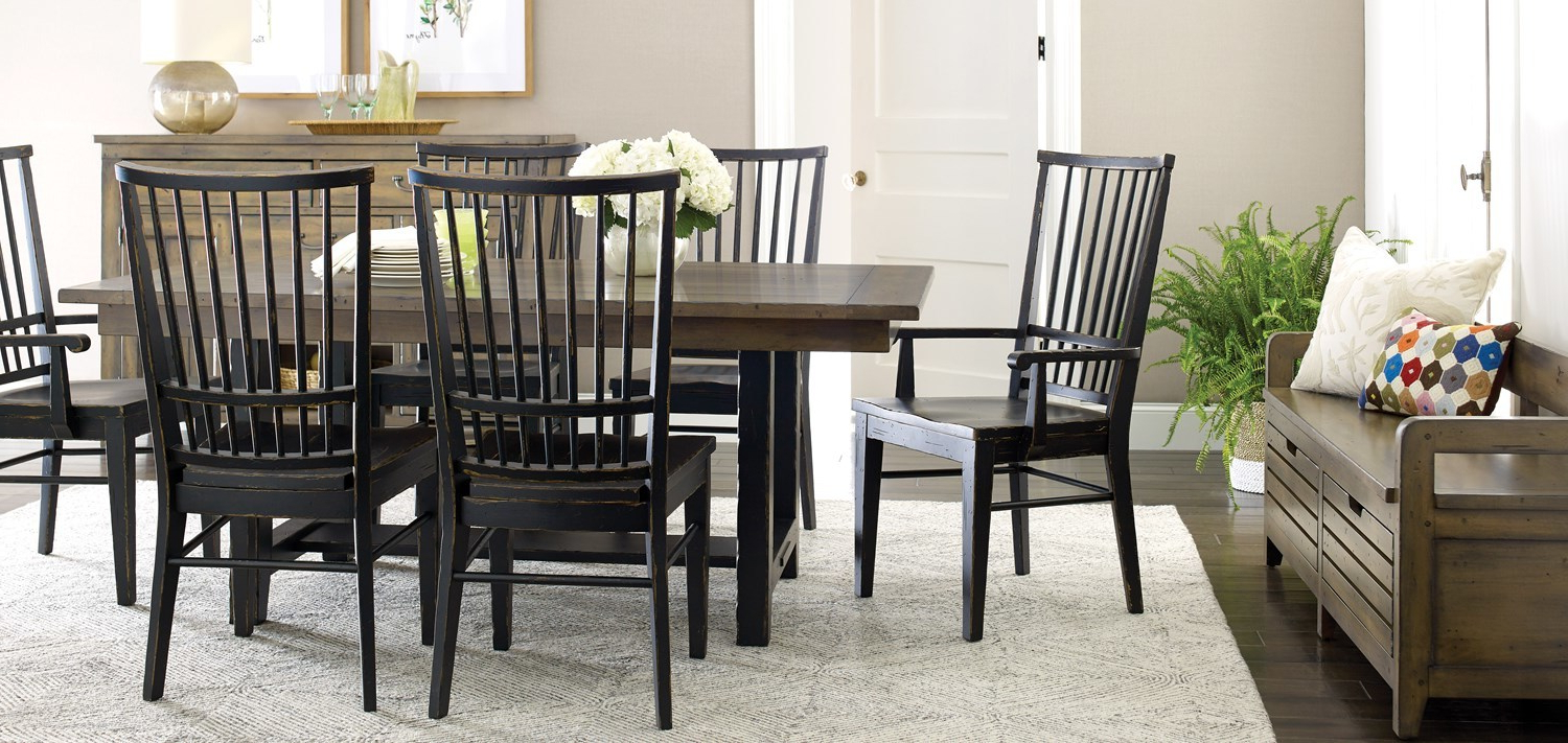 Fashionable Distressed Grey Finish Wood Classic Design Dining Tables Inside Solid Wood Furniture And Custom Upholsterykincaid (View 10 of 30)