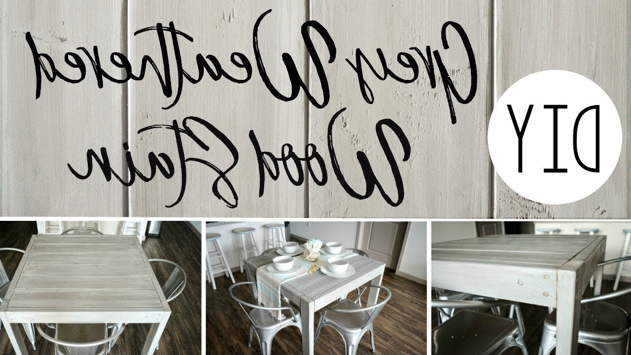 Fashionable Diy Grey Weathered Wood Stain Within Distressed Grey Finish Wood Classic Design Dining Tables (Gallery 17 of 30)