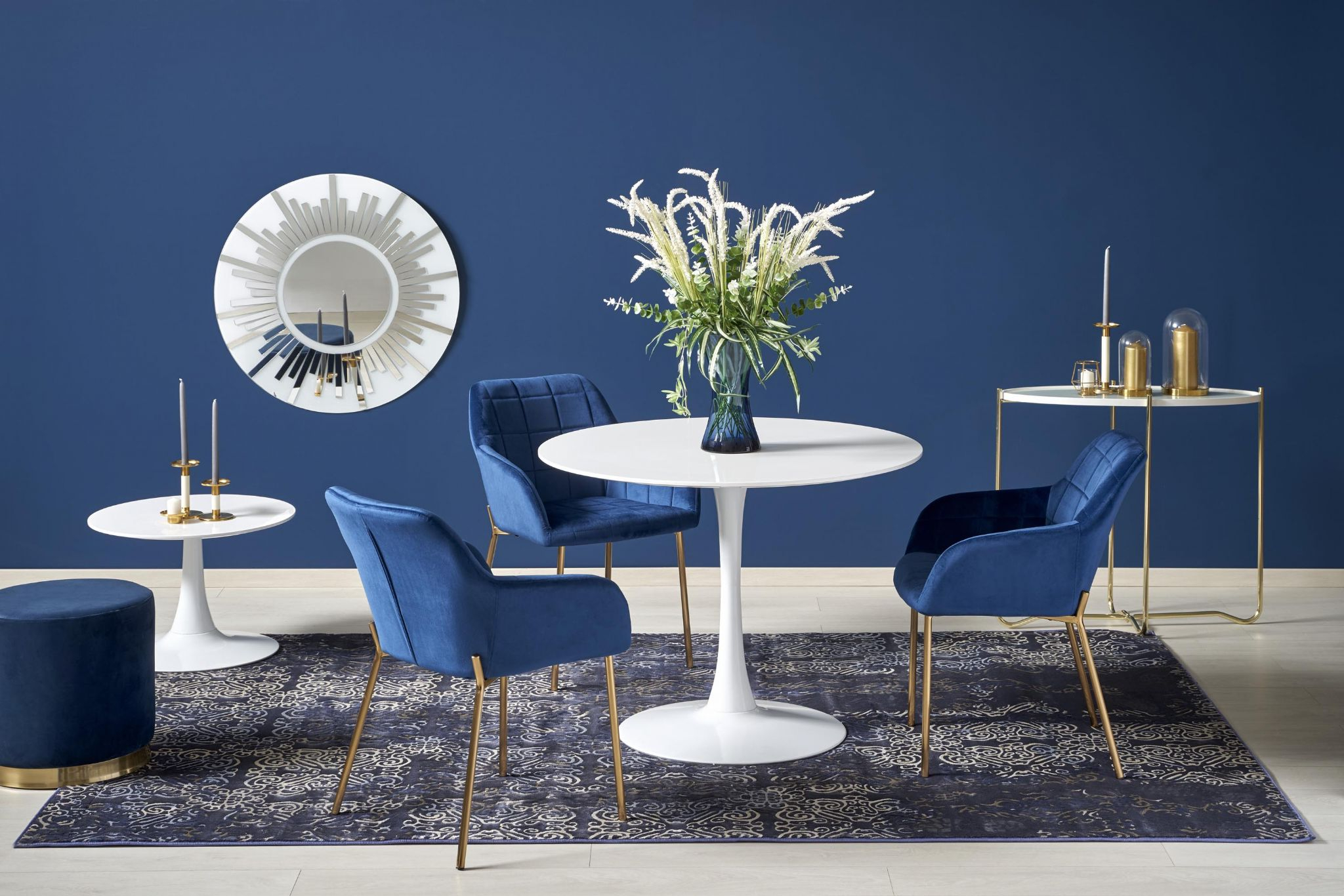 Fashionable Elegance Small Round Dining Tables In Stilo Round White Gloss Dining Table 100cm (View 26 of 30)