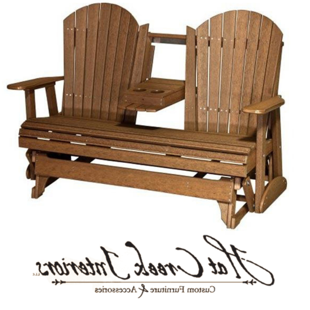 Fashionable Fanback Glider Benches For Our Fan Back Outdoor Glider Bench Is The Perfect Place To (Gallery 16 of 30)