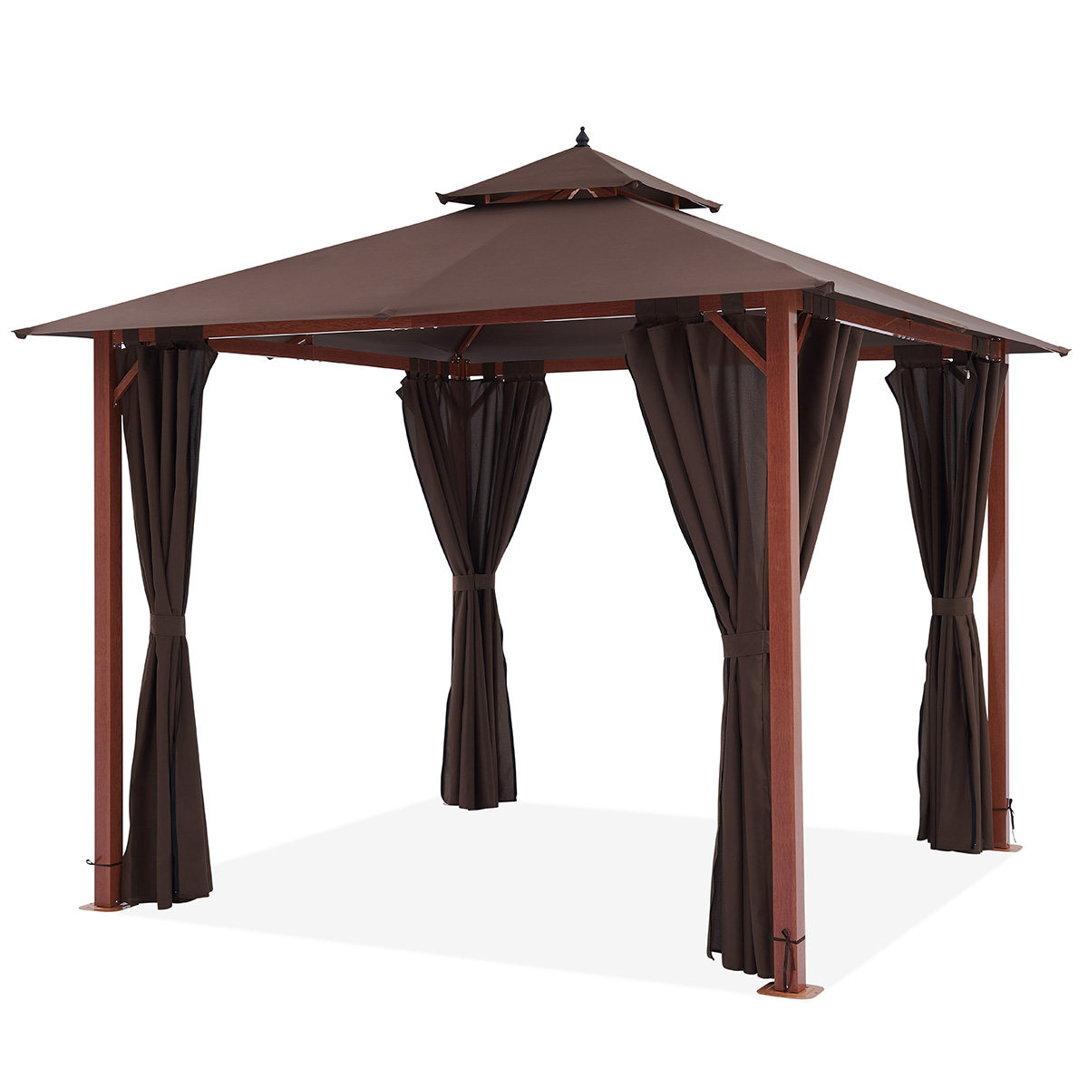 Fashionable Forestory Gazebo 3x3m – Gazebo – Outdoor Living – Outdoor With Regard To Canopy Patio Porch Swings With Pillows And Cup Holders (Gallery 28 of 30)