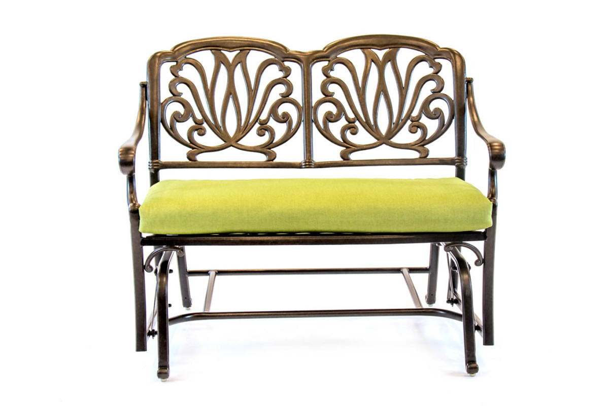Fashionable Glider Benches With Cushion Within Biscayne Bench Glider With Cushion (View 10 of 30)