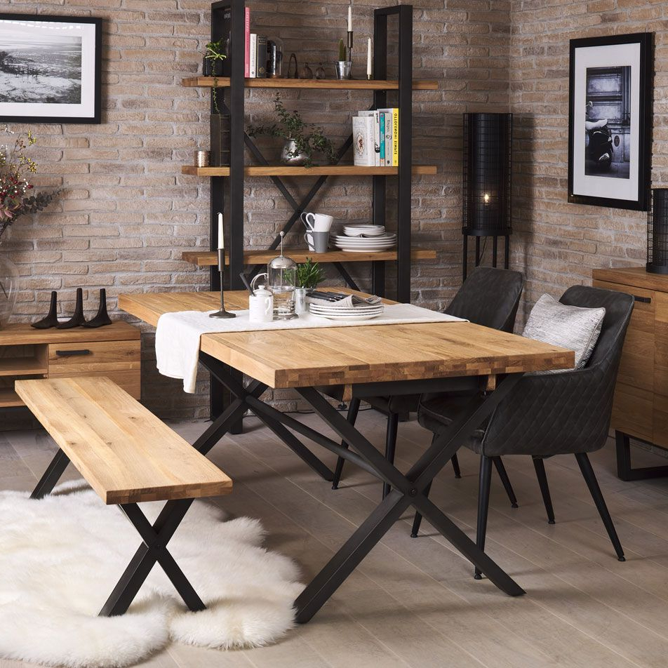 Fashionable Industrial Dining Table With Regard To Wood Top Dining Tables (View 24 of 30)