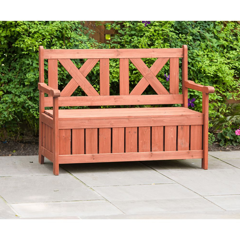 Fashionable Iron Grove Slatted Glider Benches For Patio Bench With Storage (View 17 of 30)