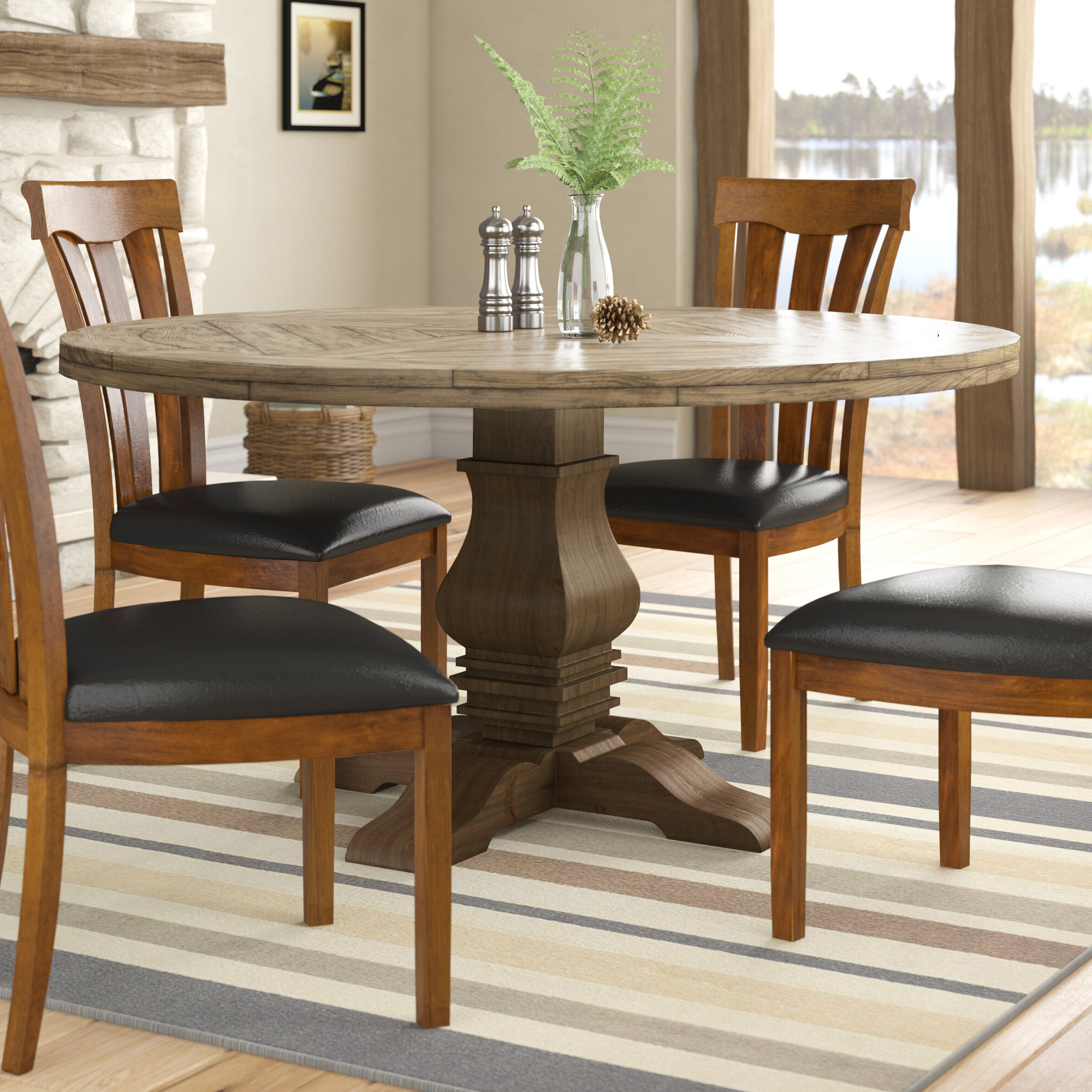 Fashionable Magaw Solid Wood Dining Table Intended For Distressed Grey Finish Wood Classic Design Dining Tables (Gallery 30 of 30)
