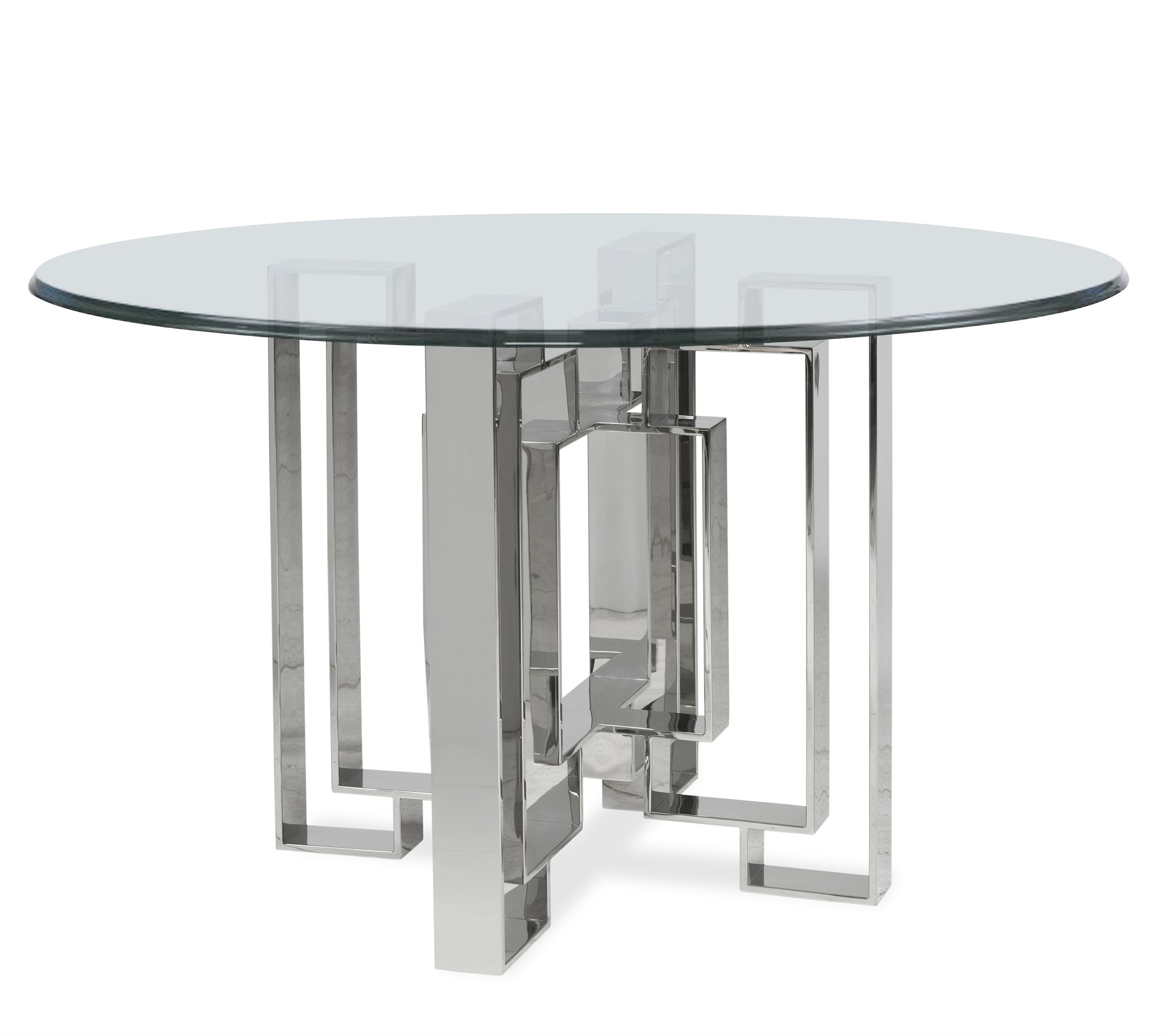 Fashionable Metal Dining Table Base Pertaining To Long Dining Tables With Polished Black Stainless Steel Base (Gallery 25 of 30)