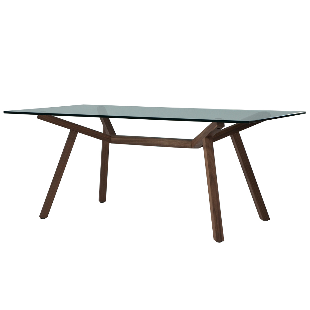 Fashionable Rectangular Glass Top Dining Tables With Sean Dix Forte Rectangular Dining Table (glass Top) (View 30 of 30)