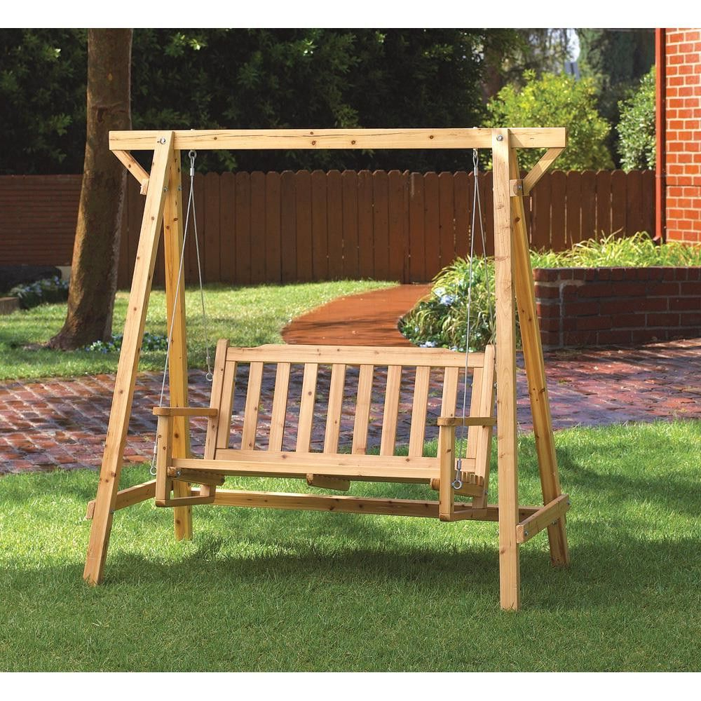 Fashionable Rustic Garden Swing Is Perfect For Porch Or Patio; Comfy Regarding Rosean Porch Swings (View 2 of 30)