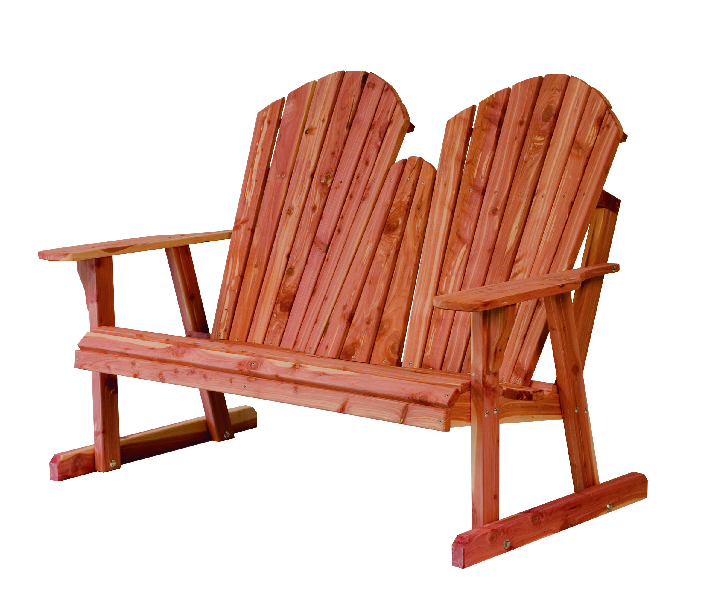 Fashionable Rustic Red Cedar Furniture – Sturgeon River Pottery Throughout Low Back Glider Benches (Gallery 27 of 30)