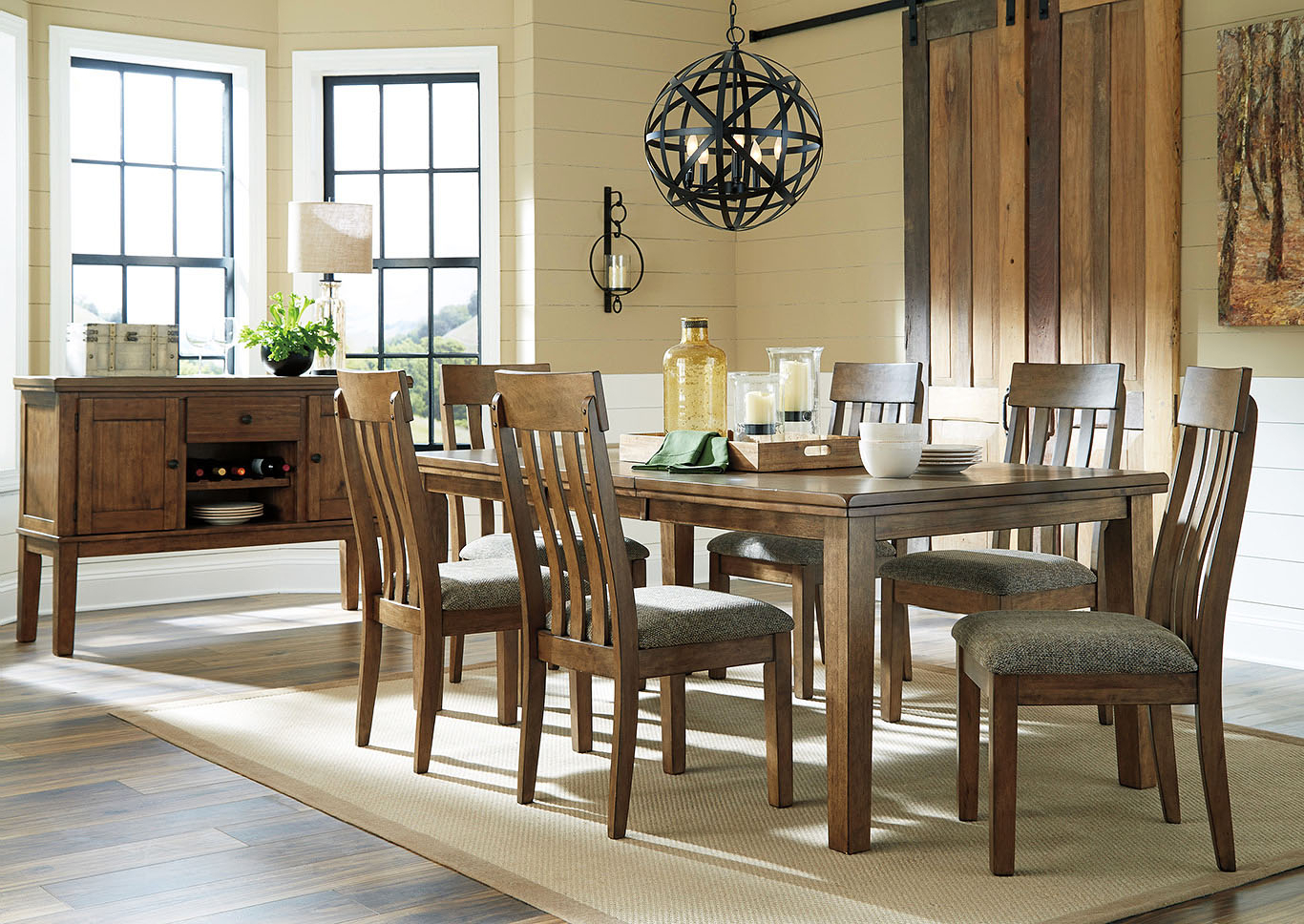 Fashionable Southside Furniture Flaybern Light Brown Extension Dining Within Transitional 6 Seating Casual Dining Tables (View 10 of 30)