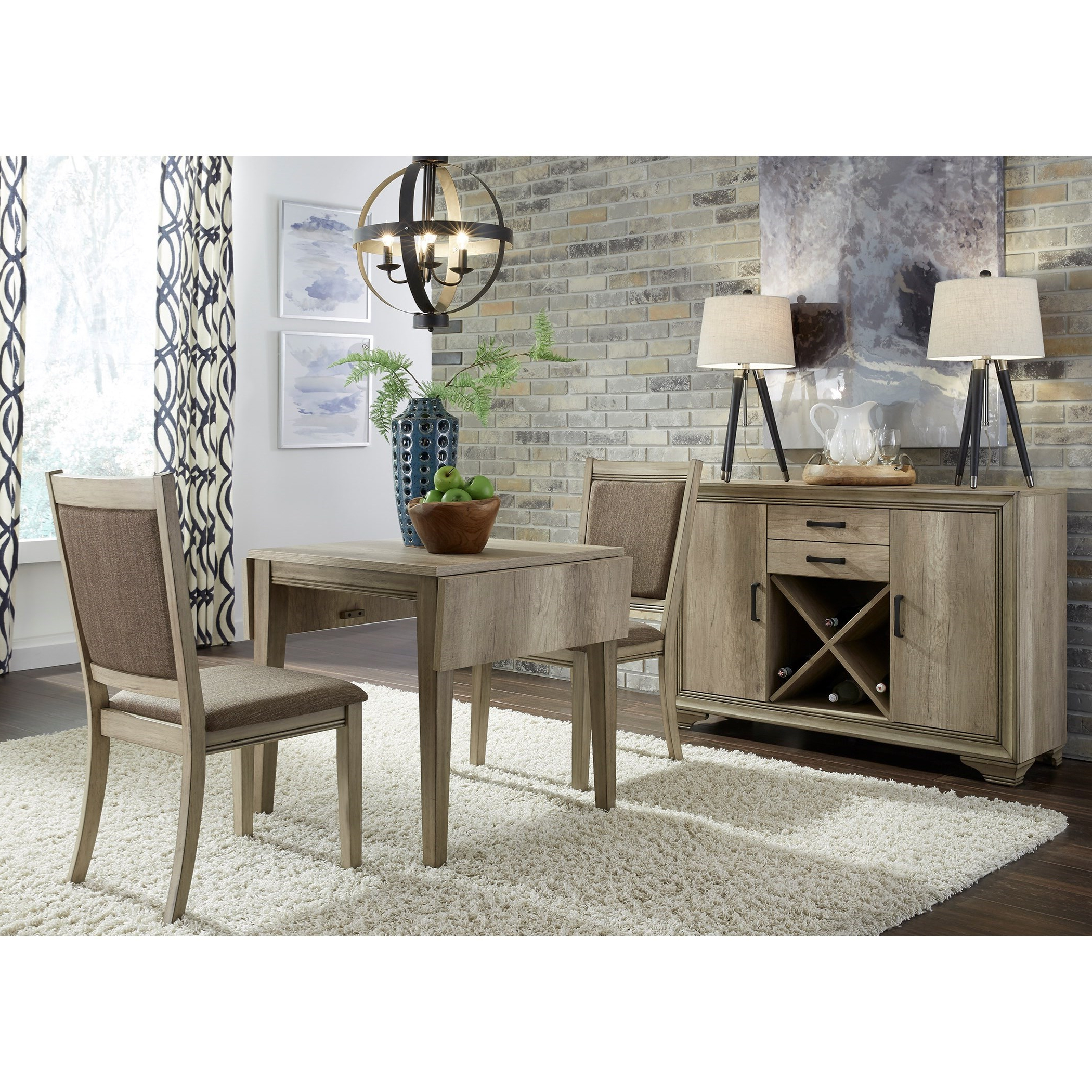 Featured Photo of Transitional 3 Piece Drop Leaf Casual Dining Tables Set