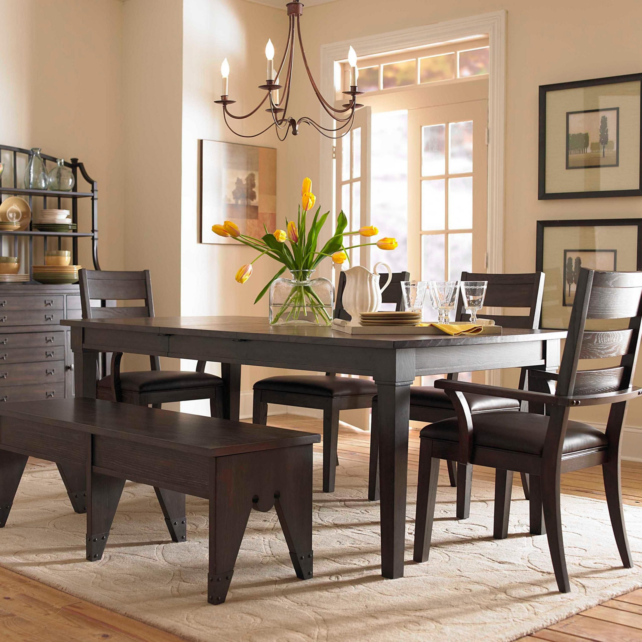 Fashionable Transitional 6 Seating Casual Dining Tables For Broyhill Furniture: Attic Retreat 6 Piece Dining Table (View 3 of 30)