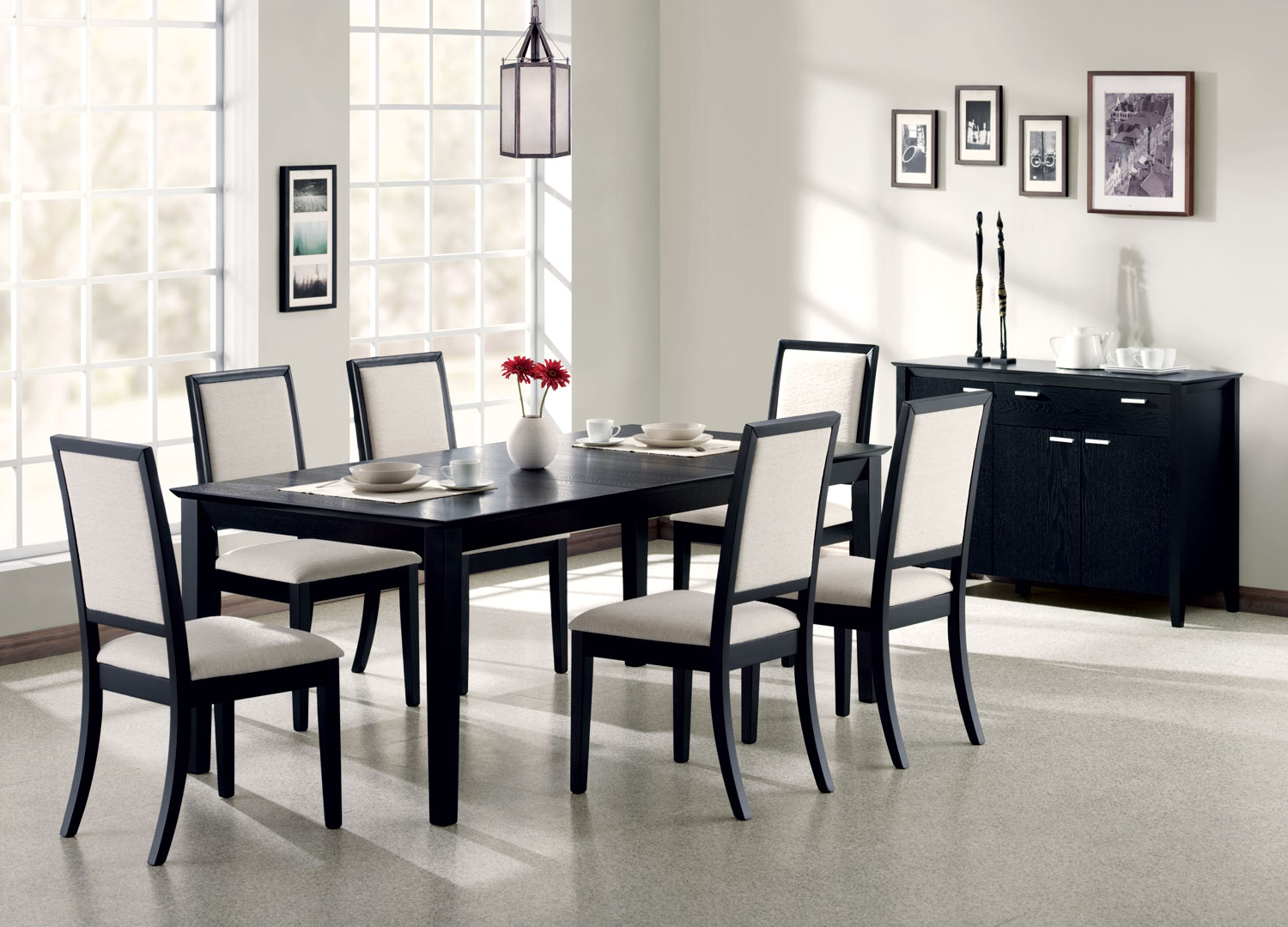 Fashionable Transitional Rectangular Dining Tables With Coaster Company Louise Transitional Rectangular Dining Table, Black (View 24 of 30)