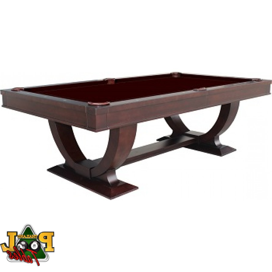 Fashionable Valencia Dining Pool Table 8Ft Regarding Espresso Finish Wood Classic Design Dining Tables (View 14 of 30)