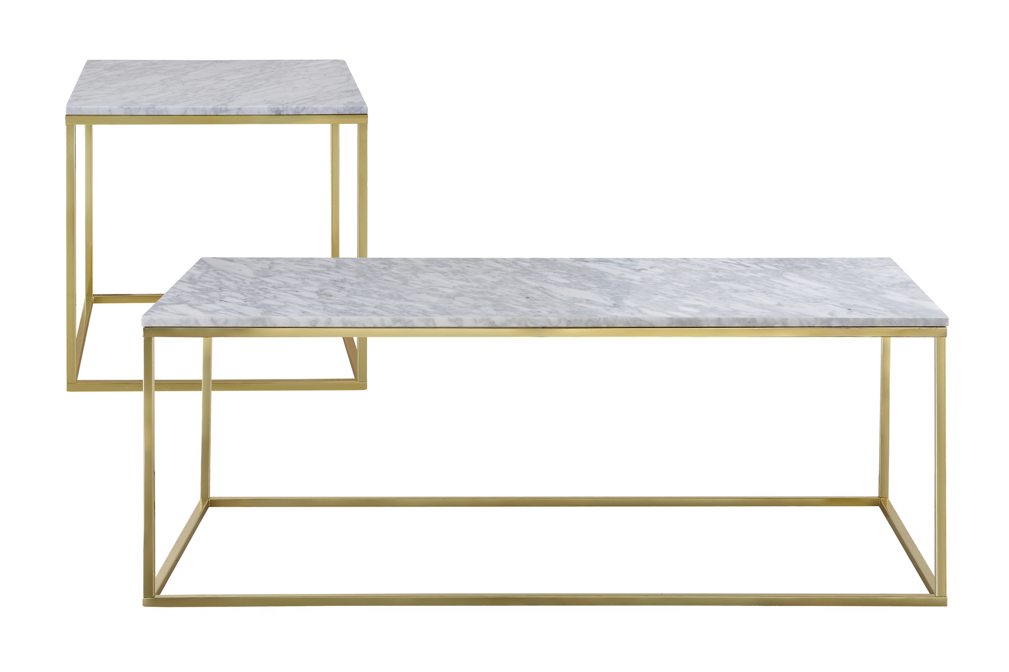 Faux Marble Finish Metal Contemporary Dining Tables In Most Recently Released White Coffee Table Set Wish Como Marble Side For  (View 5 of 30)