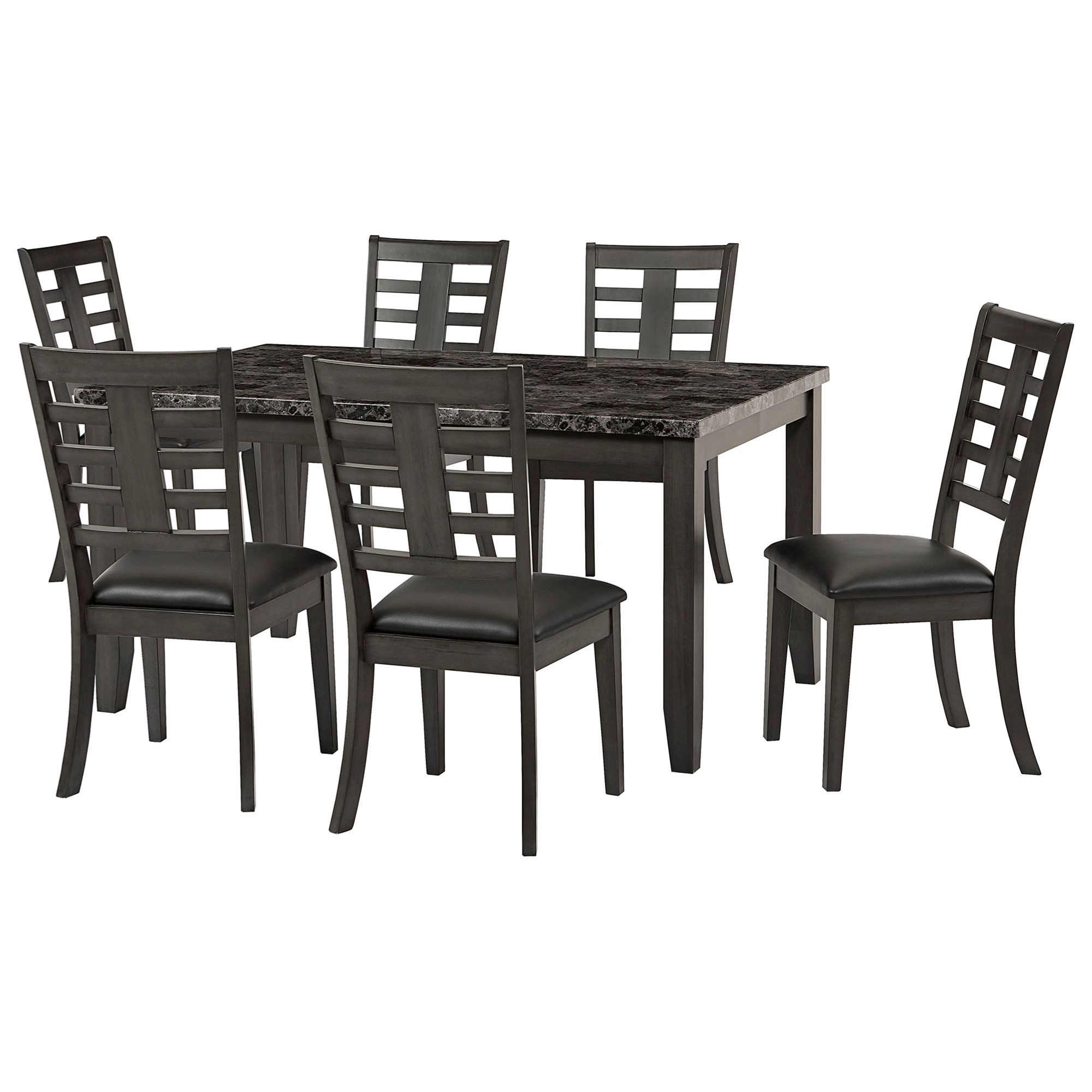Faux Marble Finish Metal Contemporary Dining Tables With Well Known Standard Furniture Canaan Contemporary 7 Piece Dining Set (View 29 of 30)