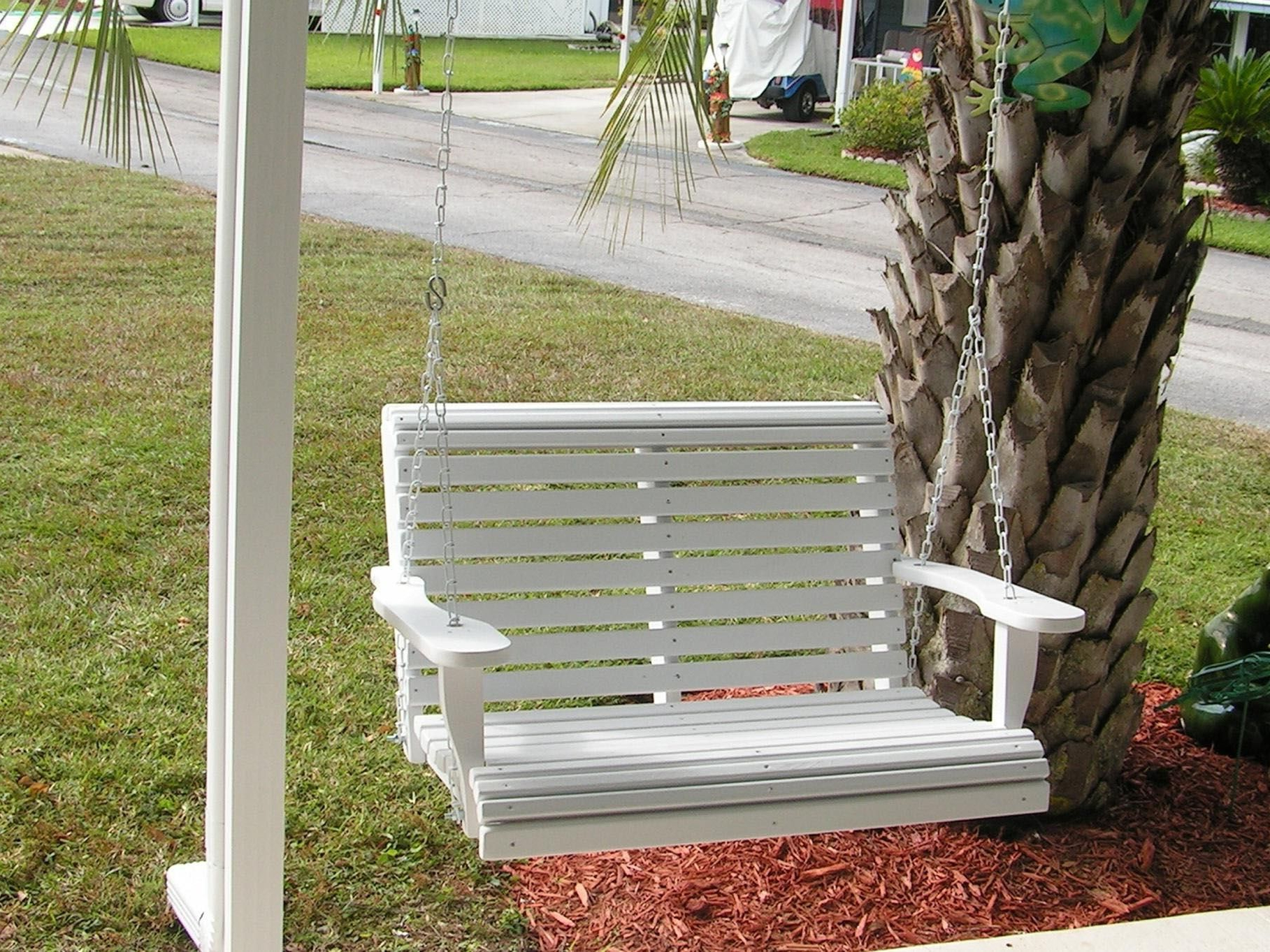 Favorite 23 Free Diy Porch Swing Plans & Ideas To Chill In Your Front Intended For Wicker Glider Outdoor Porch Swings With Stand (View 10 of 30)