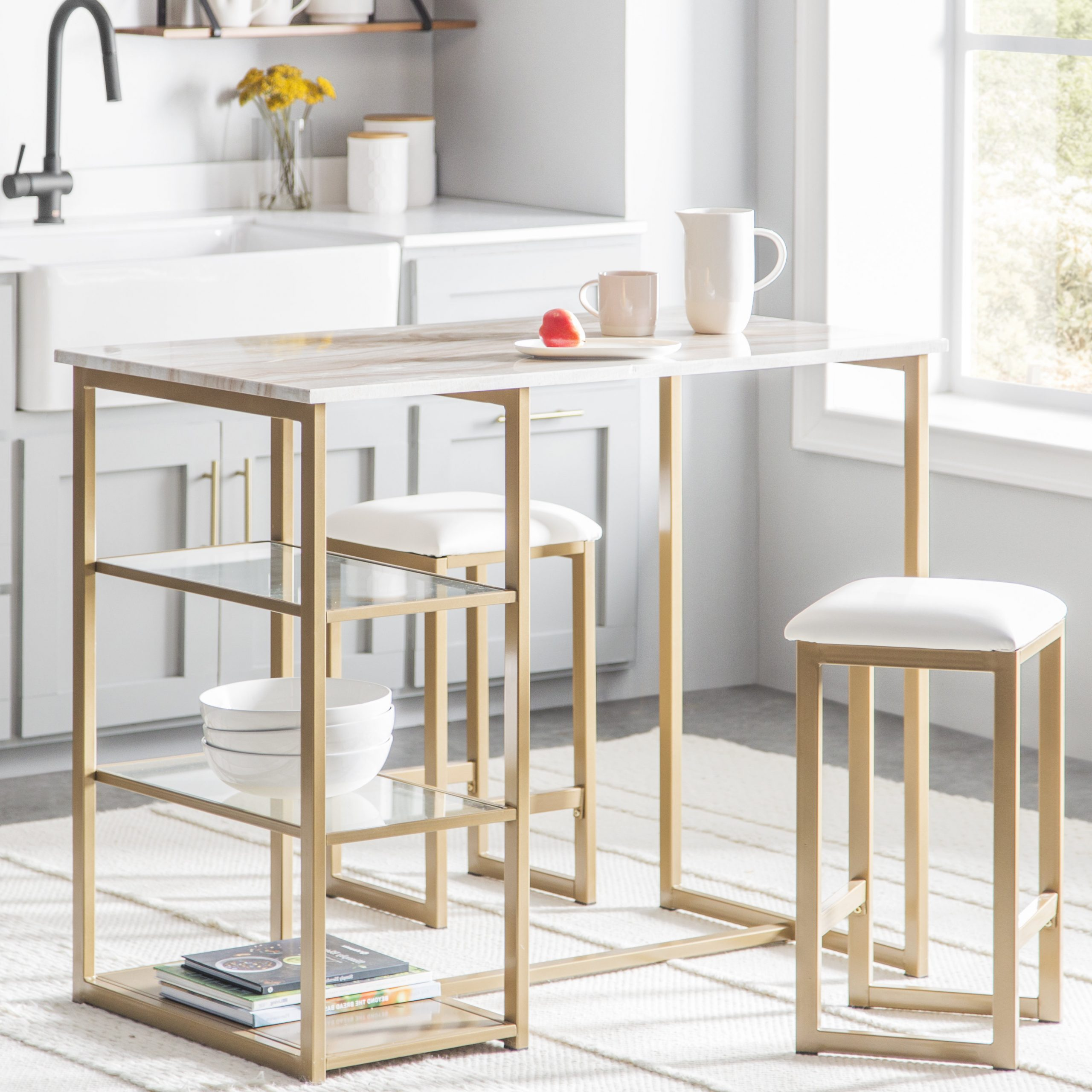Favorite 3 Piece Dining Table And Chairs Aspiration Modern Intended For 3 Pieces Dining Tables And Chair Set (View 4 of 30)