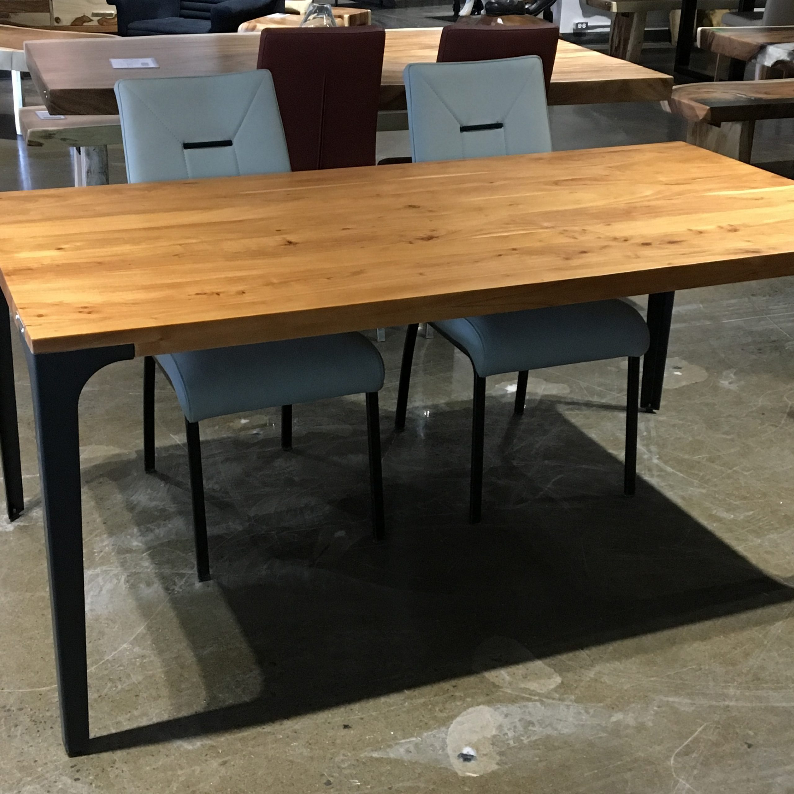 "Favorite Acacia Dining Tables With Black Victor Legs With Regard To Corcoran Acacia Live Edge Dining Table With Black Victor Legs – 96"" (View 7 of 30)"