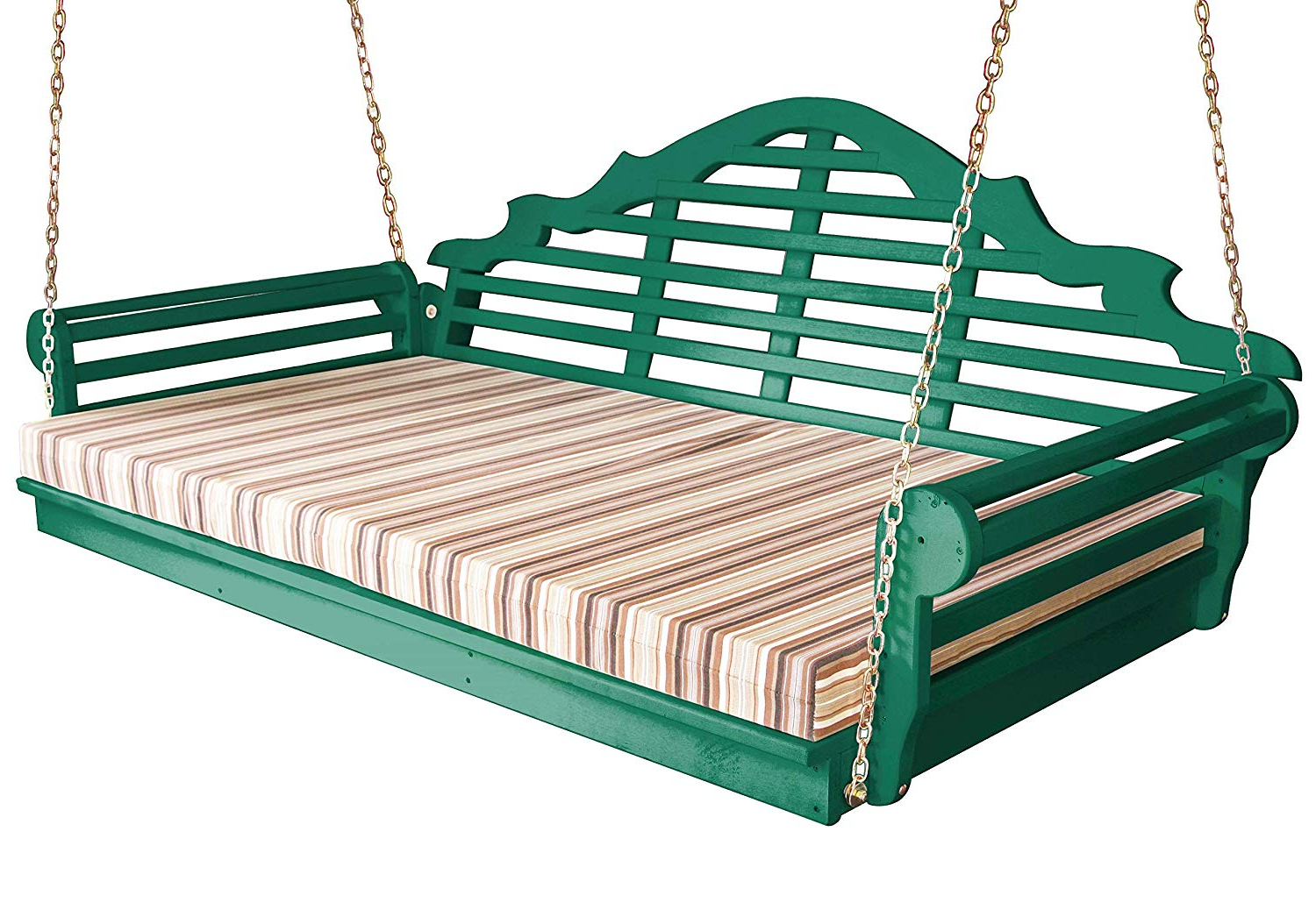 Favorite Amazon : Best Porch Swing Bed, Outdoor Swinging Daybed Throughout Country Style Hanging Daybed Swings (View 6 of 30)